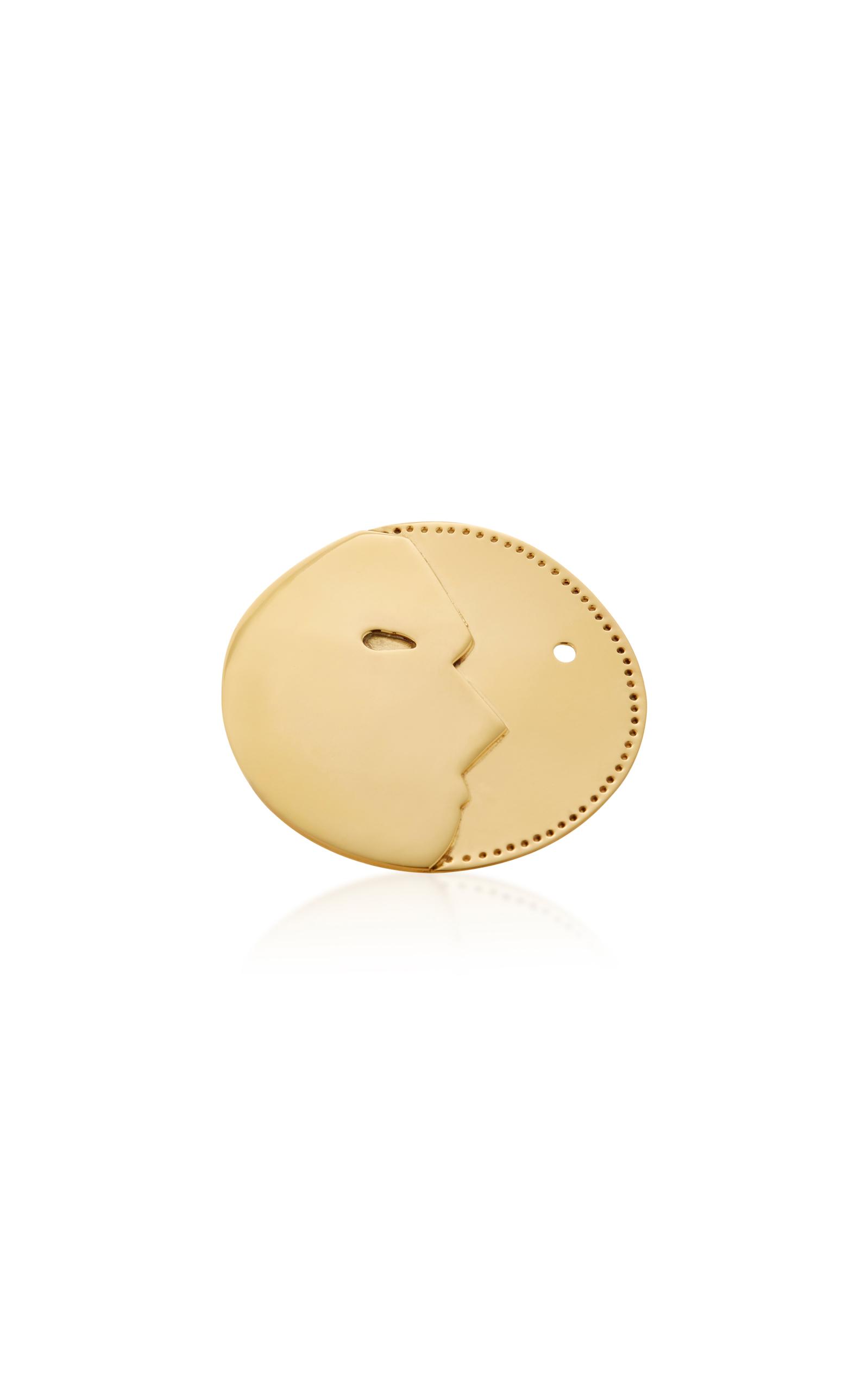 KALMAR MANMOON GOLD-PLATED BRASS RING