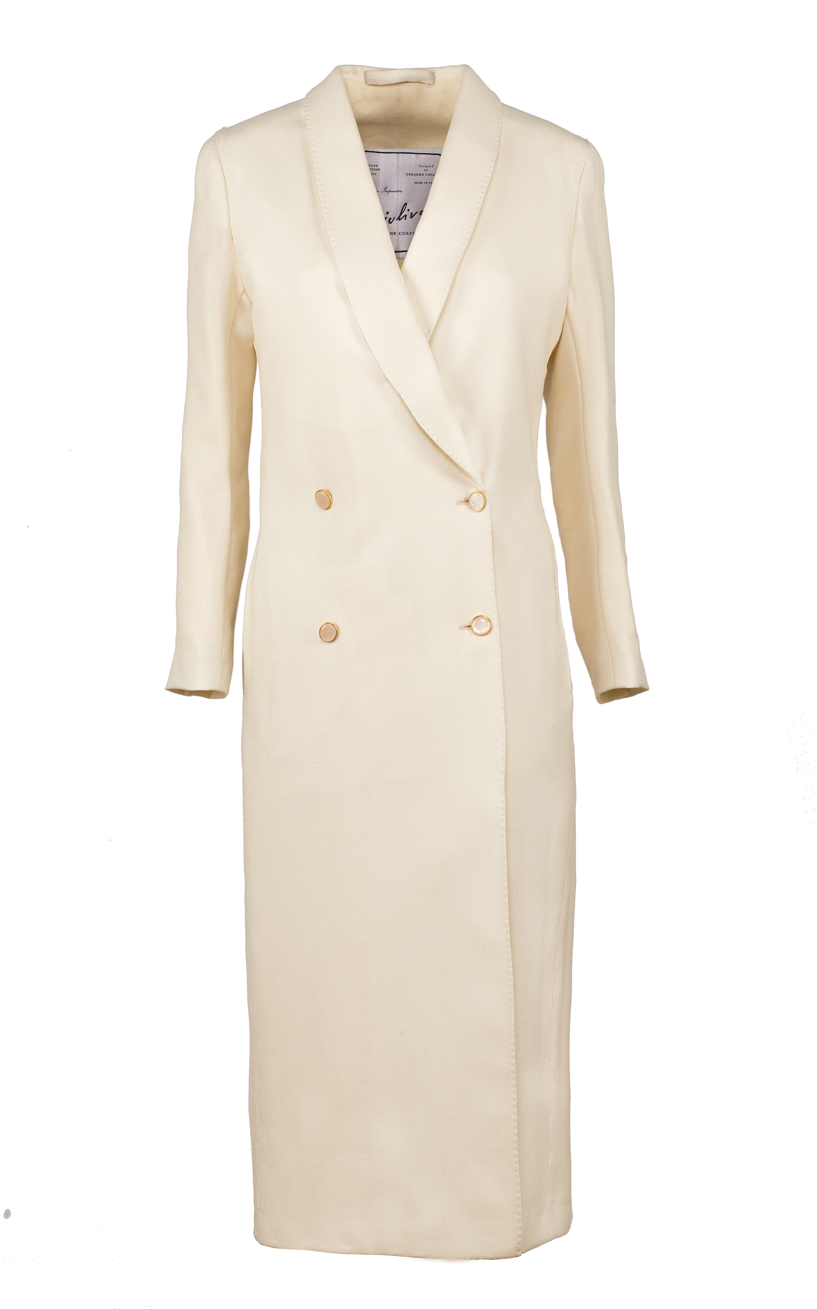 GIULIVA HERITAGE COLLECTION Josephine Hopsack Coat in White