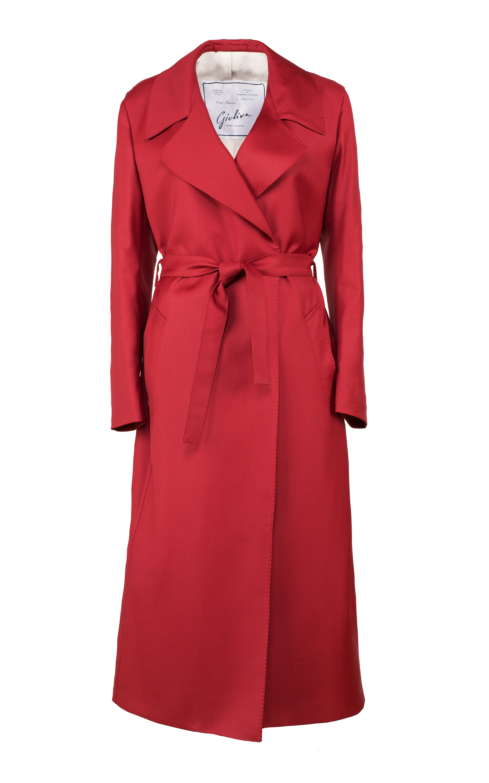 GIULIVA HERITAGE COLLECTION Double Breasted Wool Dress Coat in Red