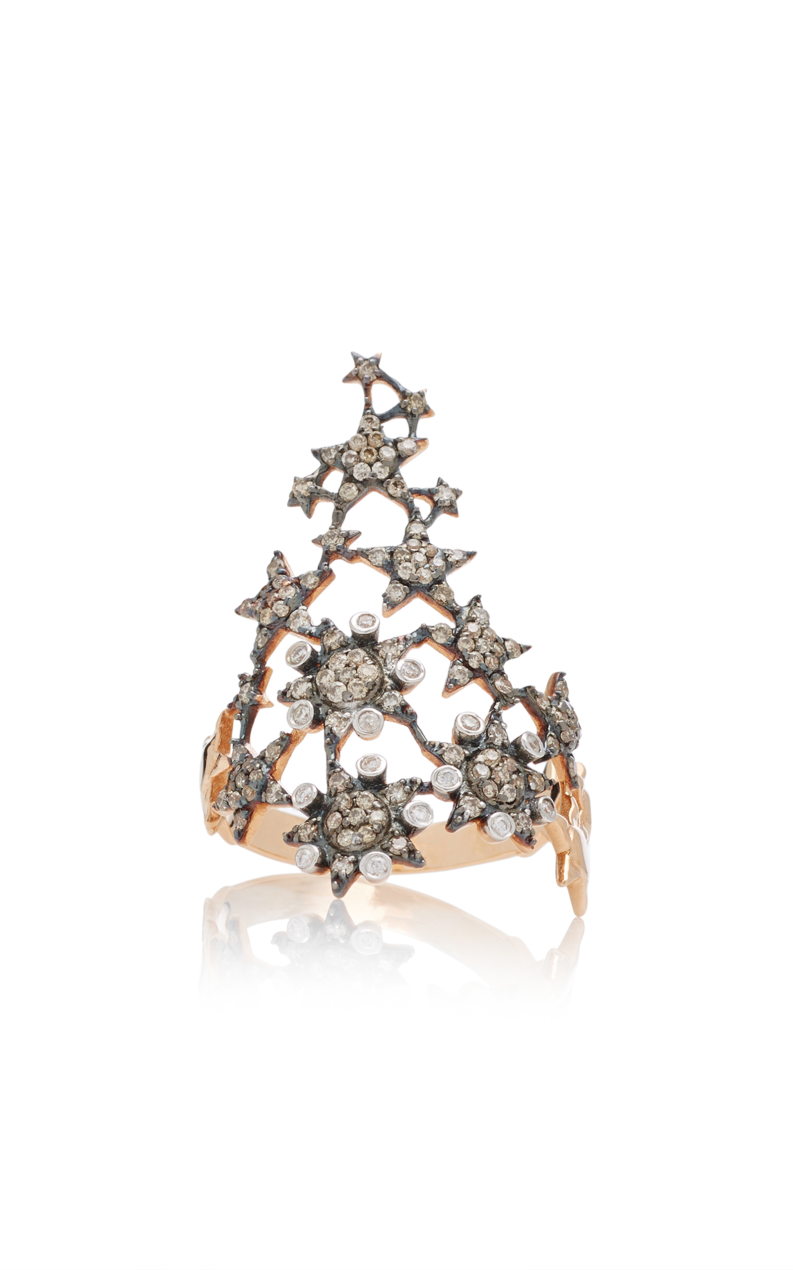 fancy yb ring colored brown diamond diamonds lugaro collections dark champagne gia top certified