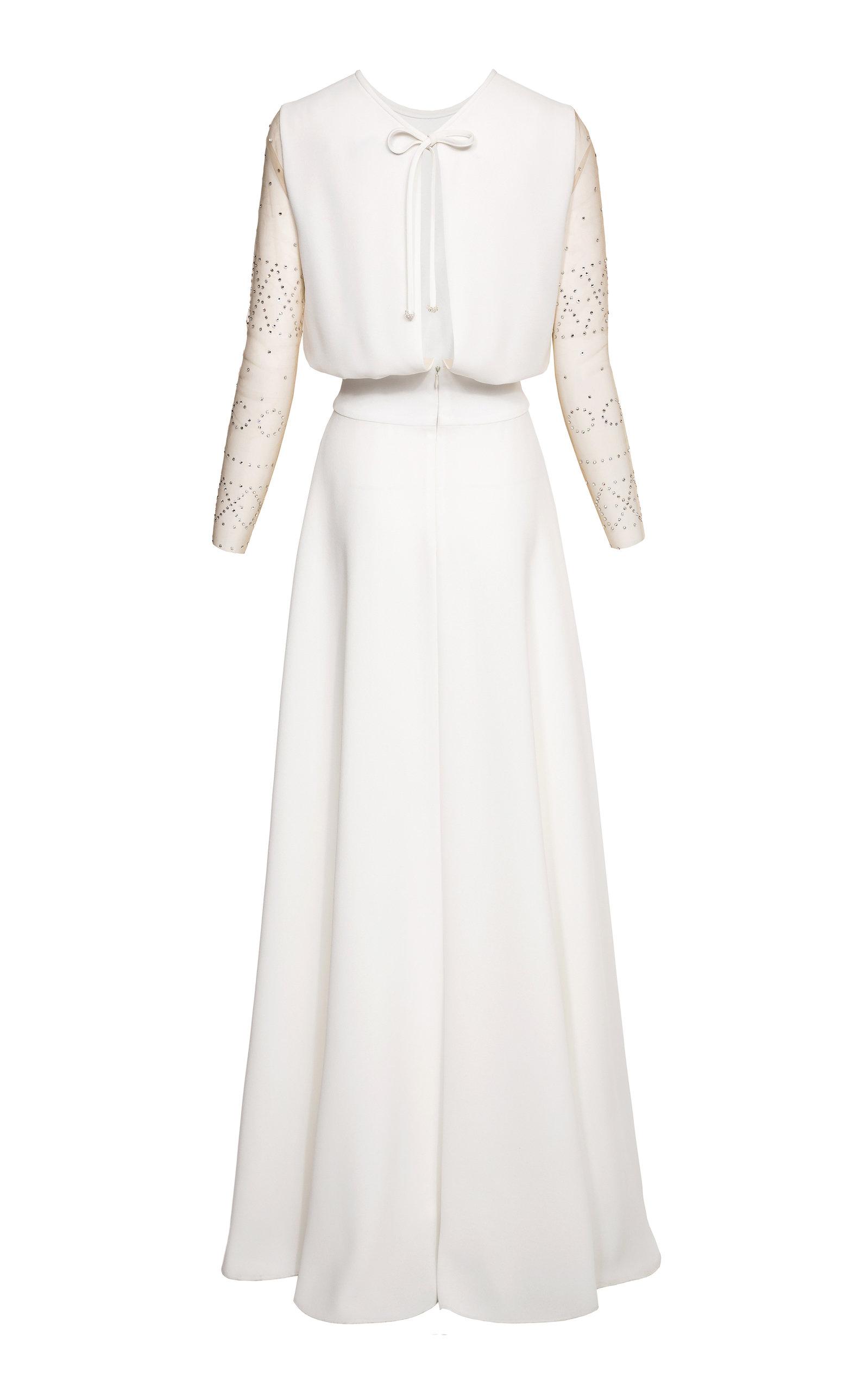 1ba585a38607 Freya Crystal Embellished Sleeve Crepe Gown by Maison Lilli Jahilo ...