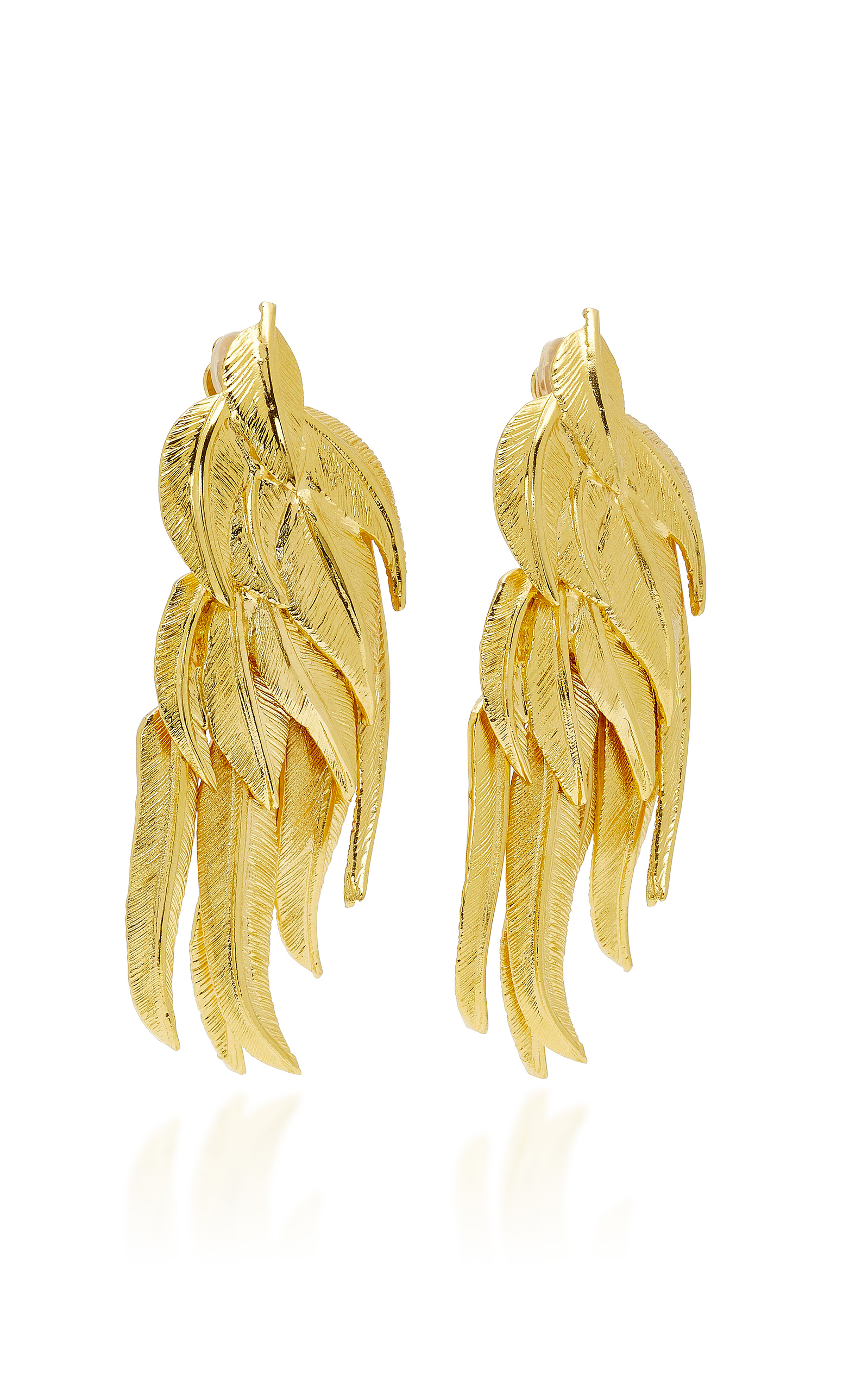 Elvira Gold-plated Clip Earrings - one size Aur pLzew