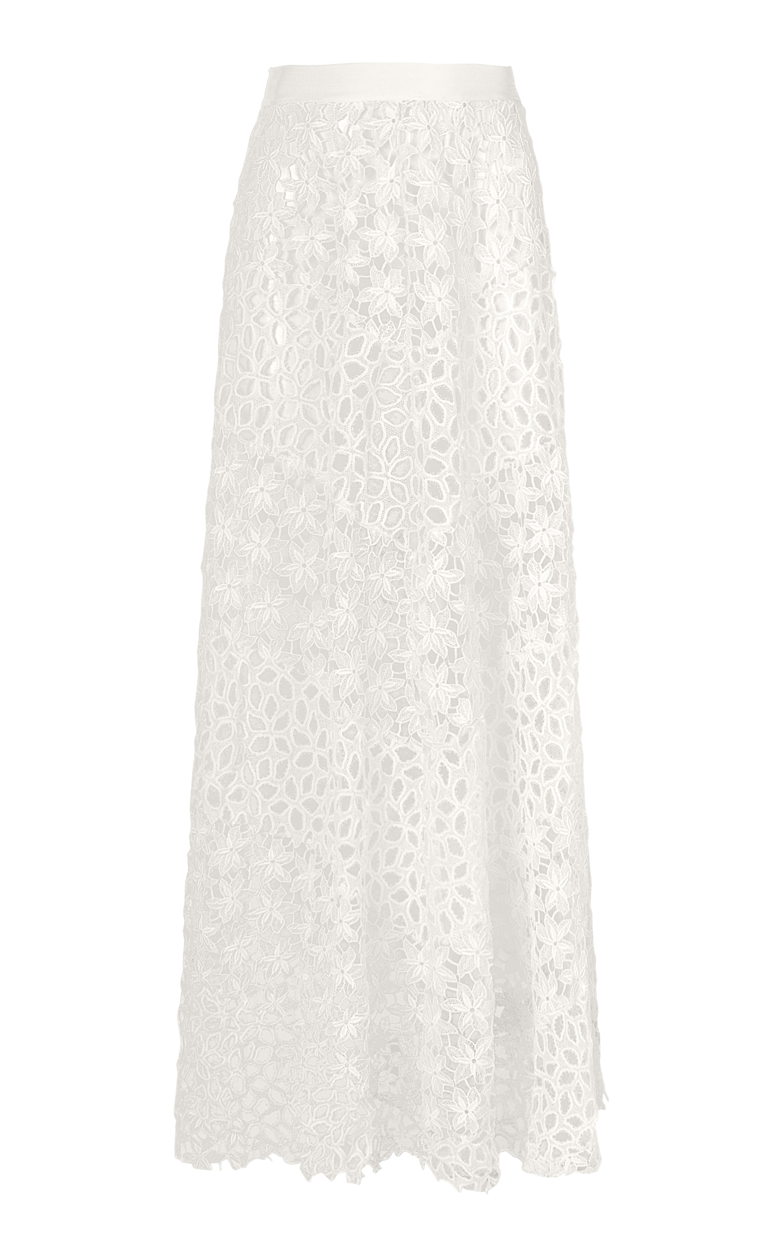LOLITTA Louise Guipire Long Skirt in White