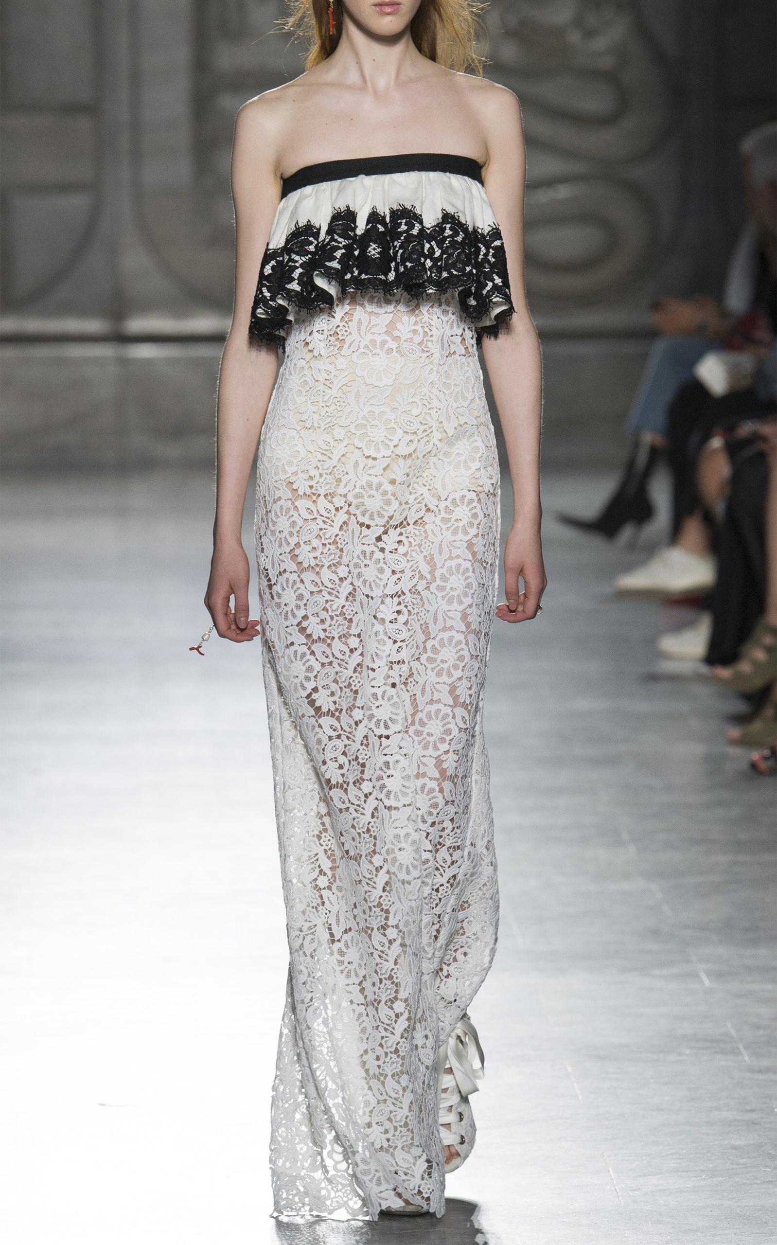 Strapless Lace Gown by Fausto Puglisi | Moda Operandi