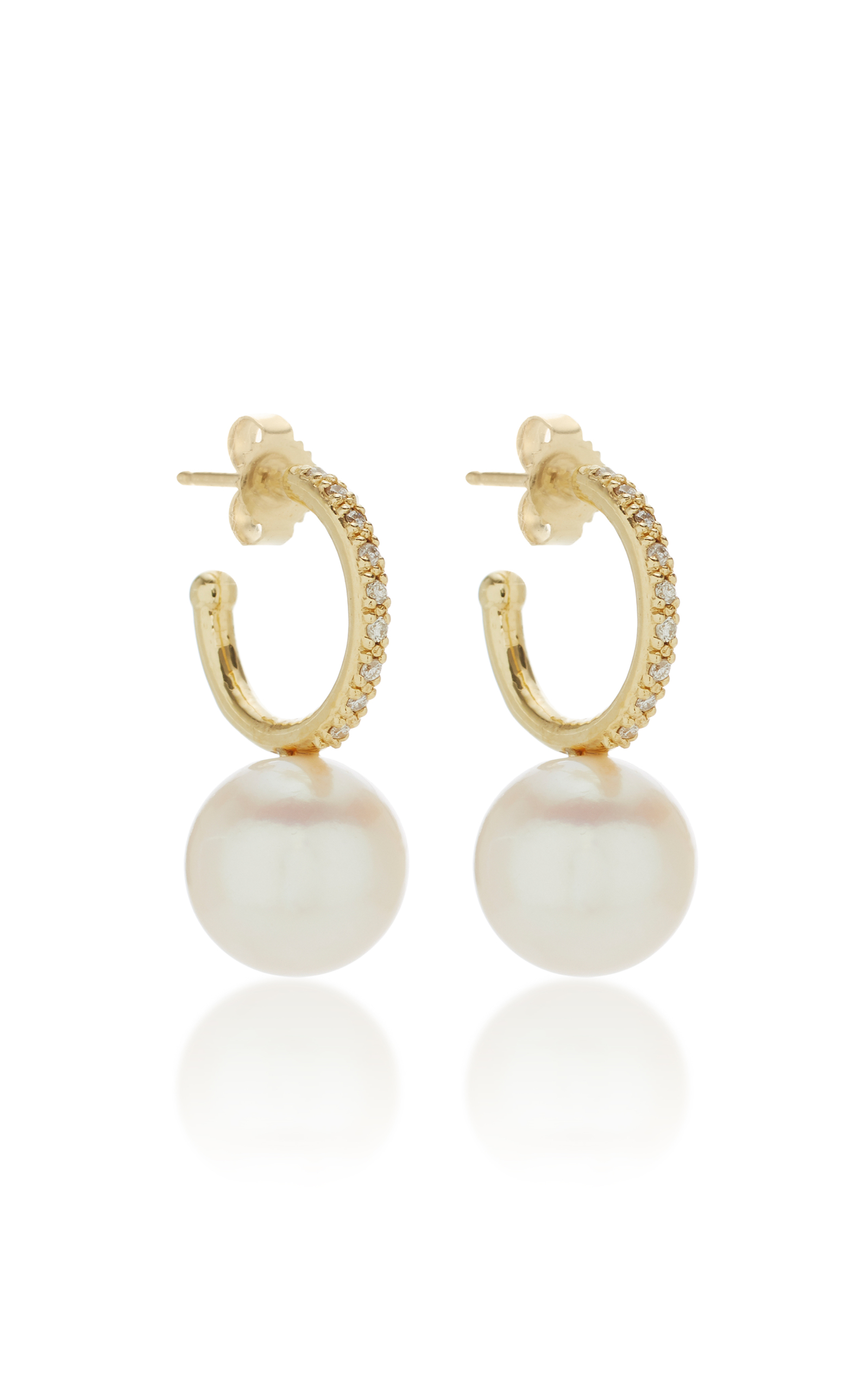 diamond white hoop earrings gold en kay zm accents mv kaystore small round