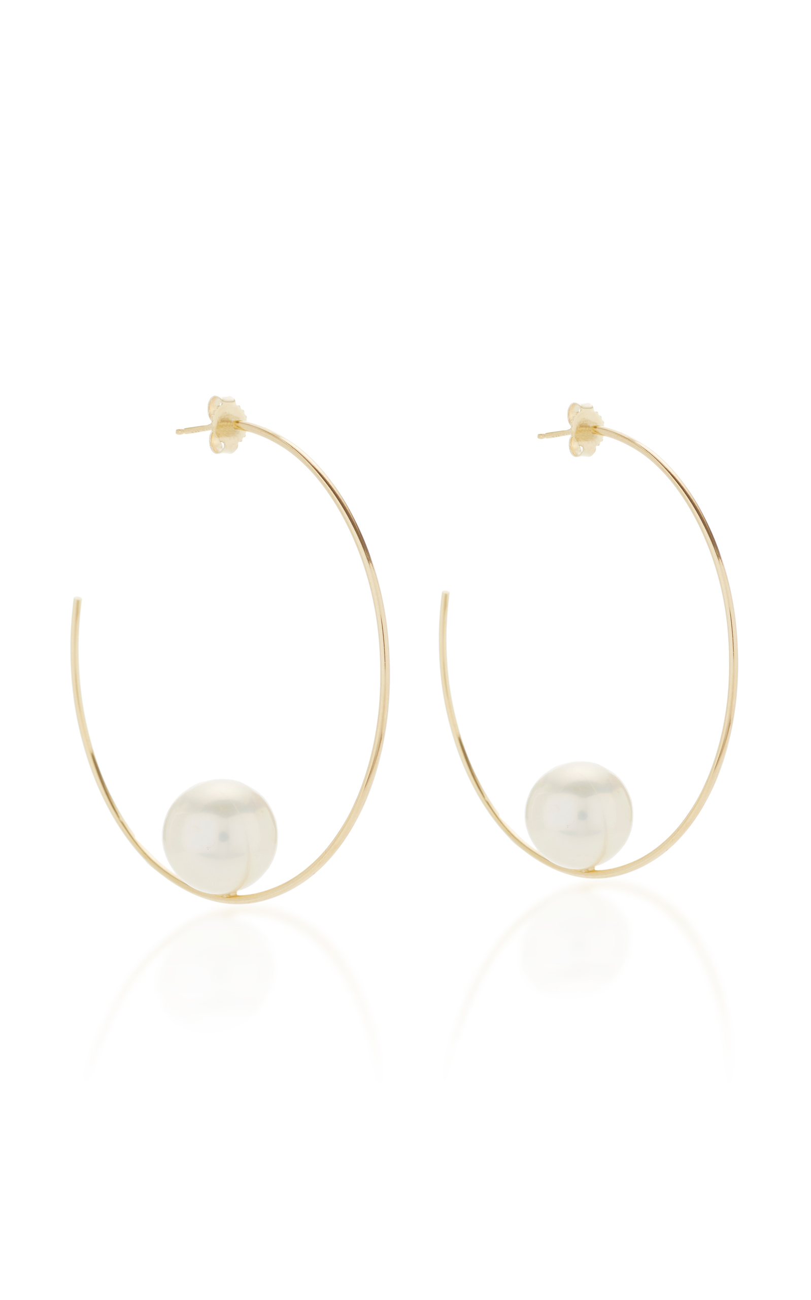 Mizuki 14k Floating Five-Pearl Hoop Earrings YBhrbMuoi