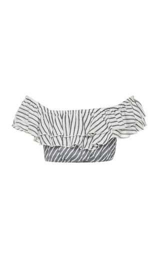 7a2256d0be4 Ziggy Off Shoulder Frill Crop Top by Suboo | Moda Operandi
