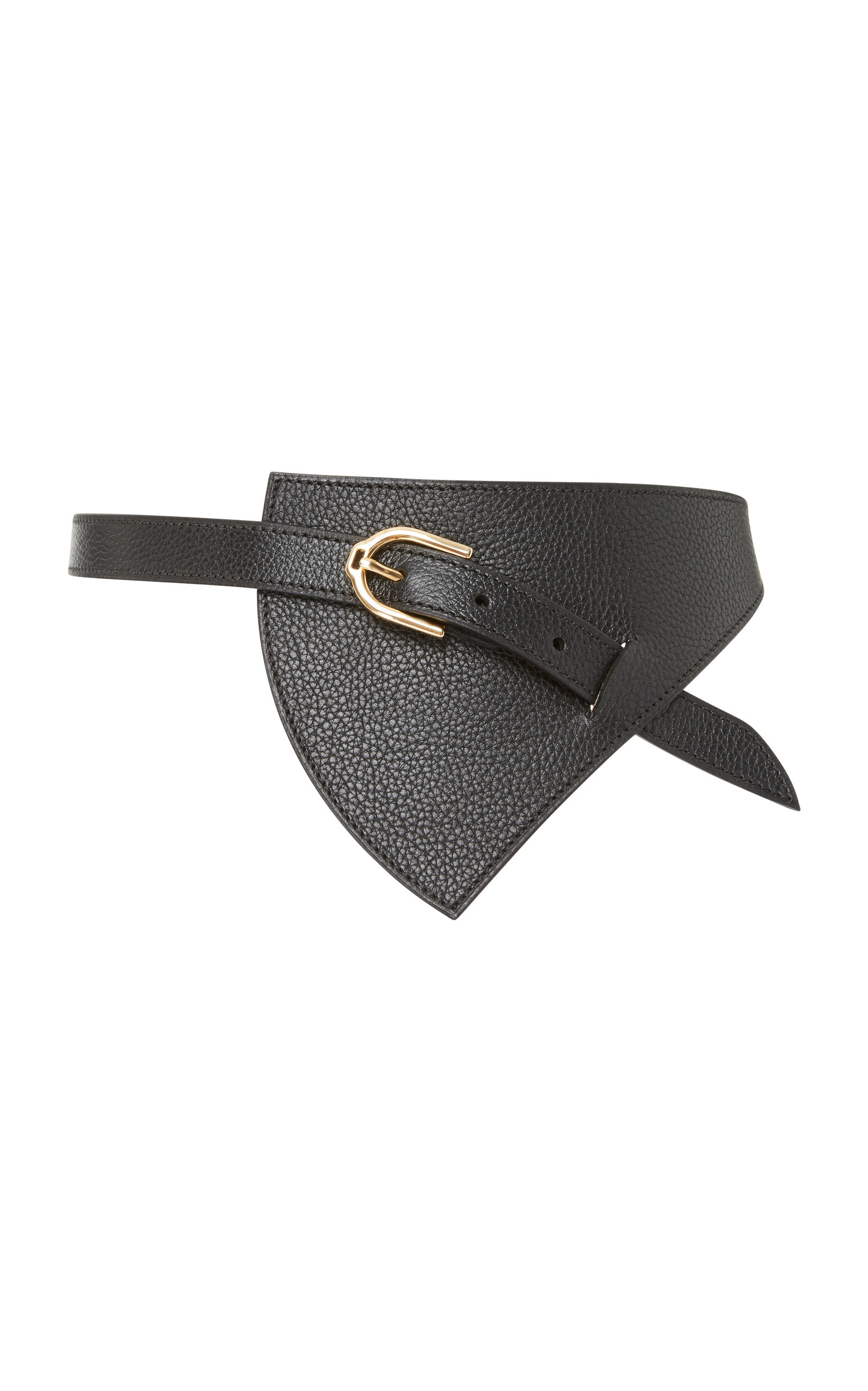 MAISON VAINCOURT M'O EXCLUSIVE REVERSIBLE TRIANGLE LEATHER WAIST BELT