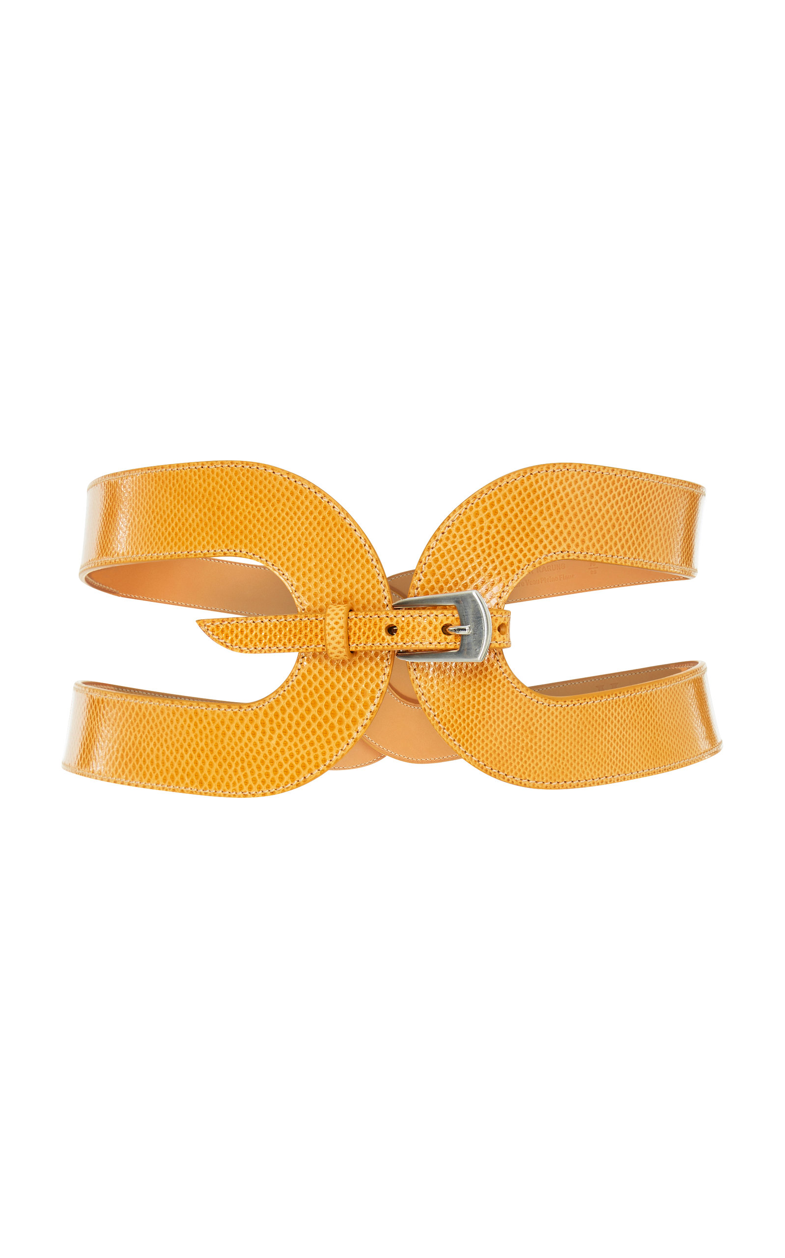 M'O EXCLUSIVE THE CAGE SNAKE SKIN WAIST BELT