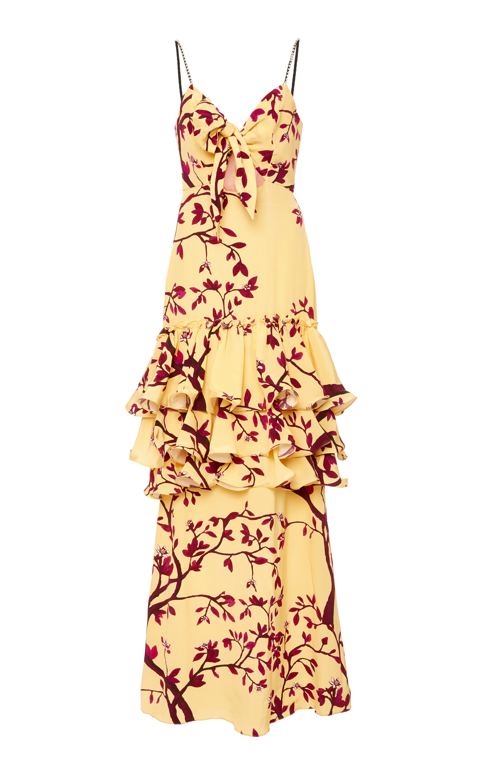 M'O Exclusive The Victorian Gold Rush Silk Dress