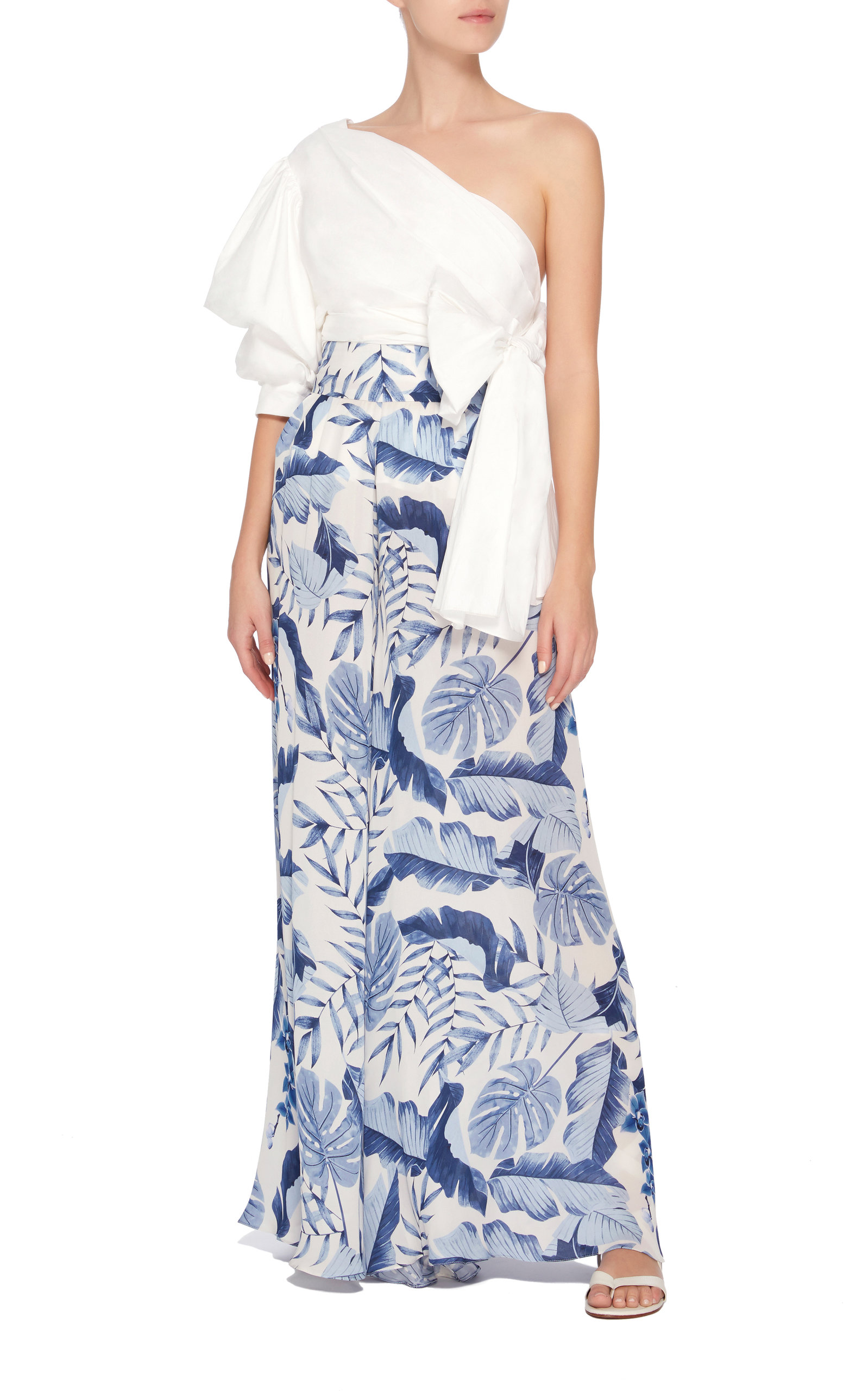 JOHANNA ORTIZ M'O Exclusive Lord Derby Georgette Pants
