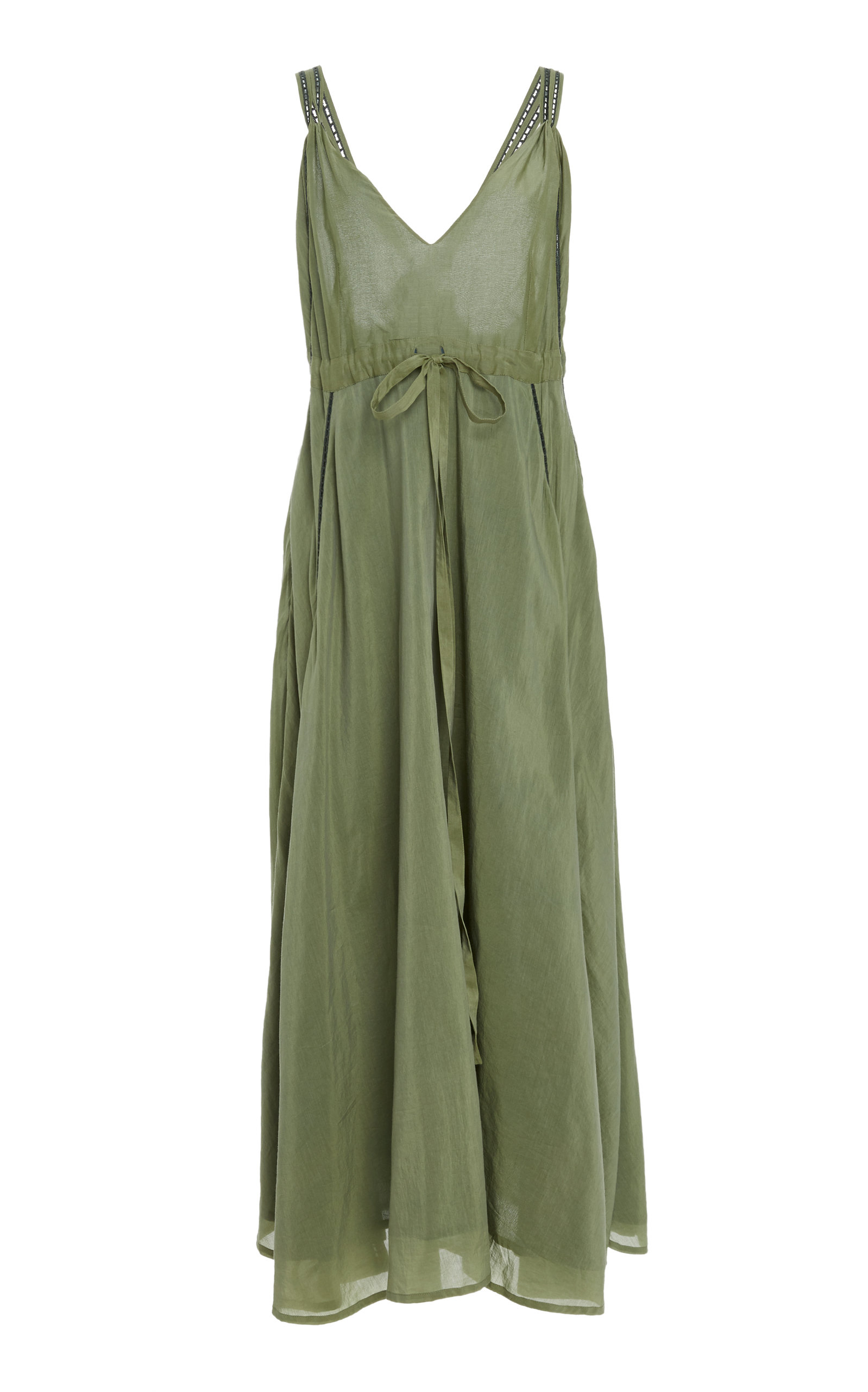 Jagger Silk and Cotton-Blend Midi DressKalita