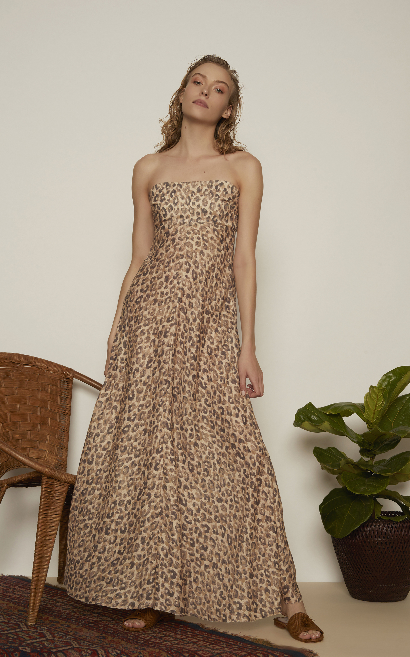 Melody Strapless Long Dress by Zimmermann