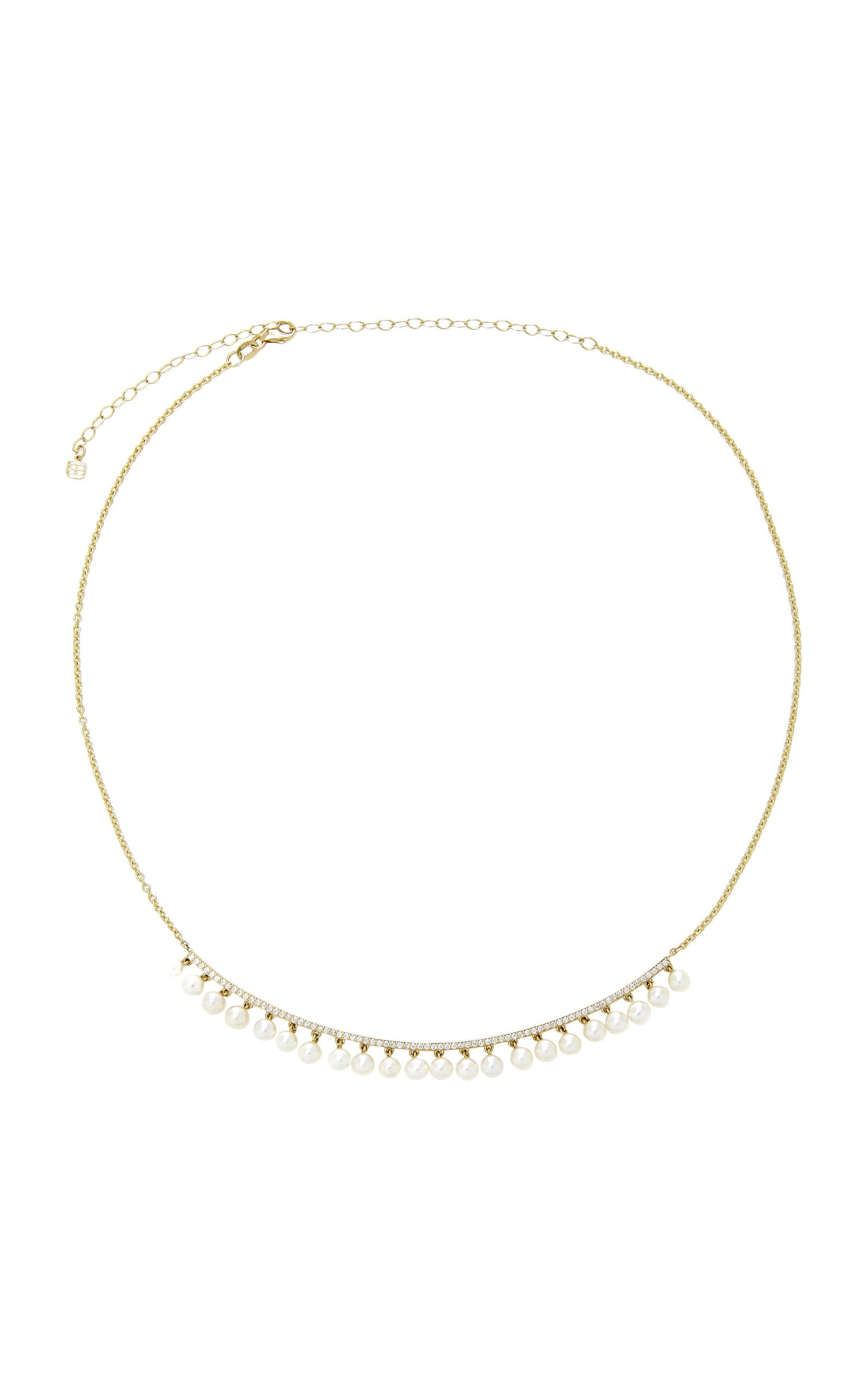 Sydney Evan Pearl Bar Necklace O2SlQjEKP