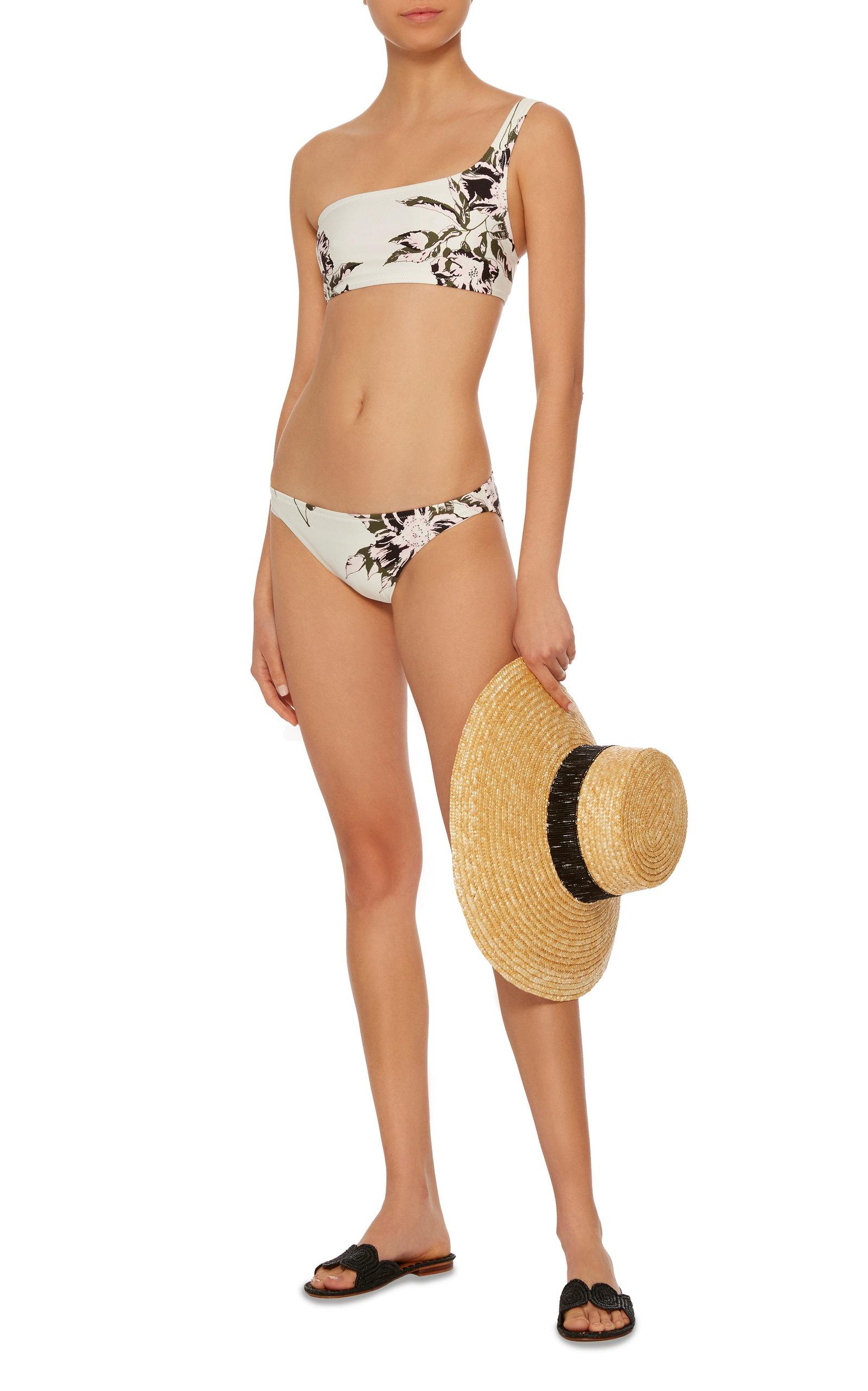 Codes De Réduction Des Achats En Ligne Proenza Schouler One-Shoulder Floral-Print Bikini Set Meilleure Vente En Gros En Ligne r7nkFhR