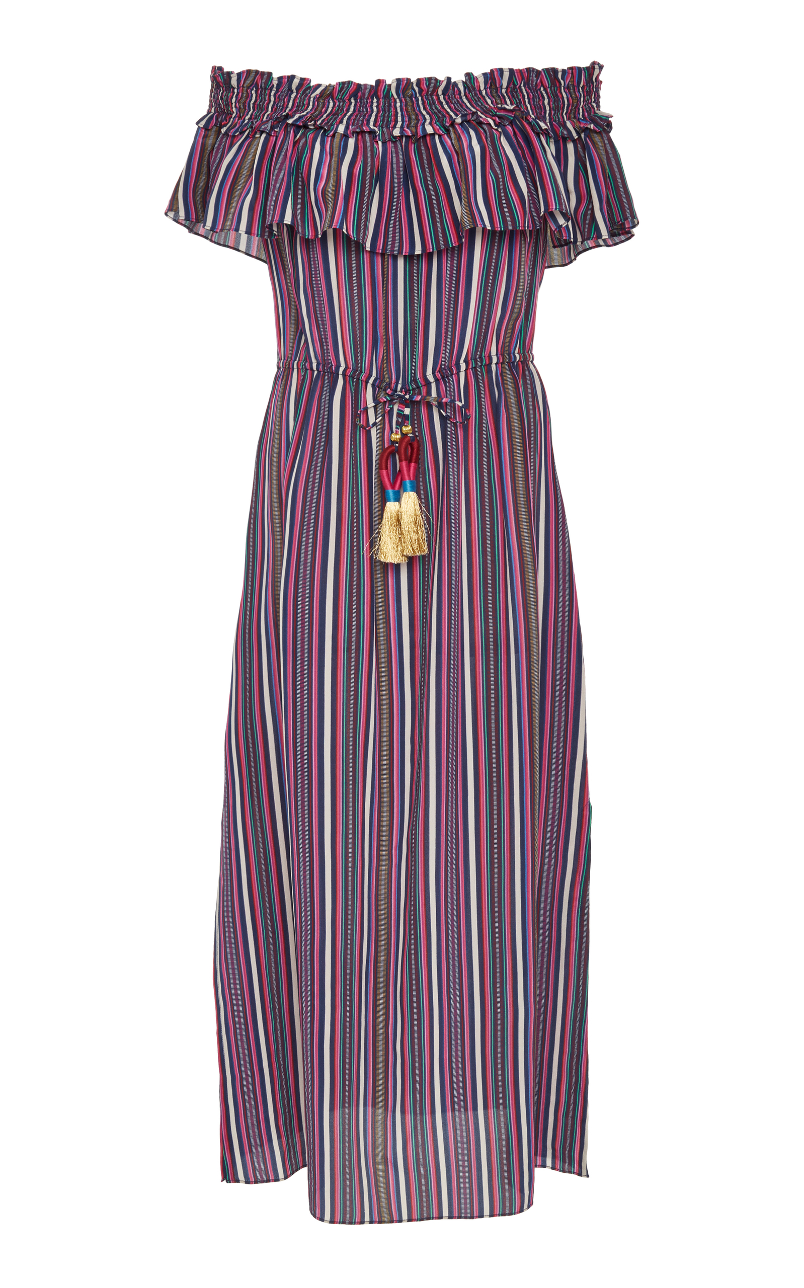 Genuine For Sale Mirella striped dress - Pink & Purple Figue Cheap Online Store Manchester Outlet Nicekicks Discount Low Price Y59wKs
