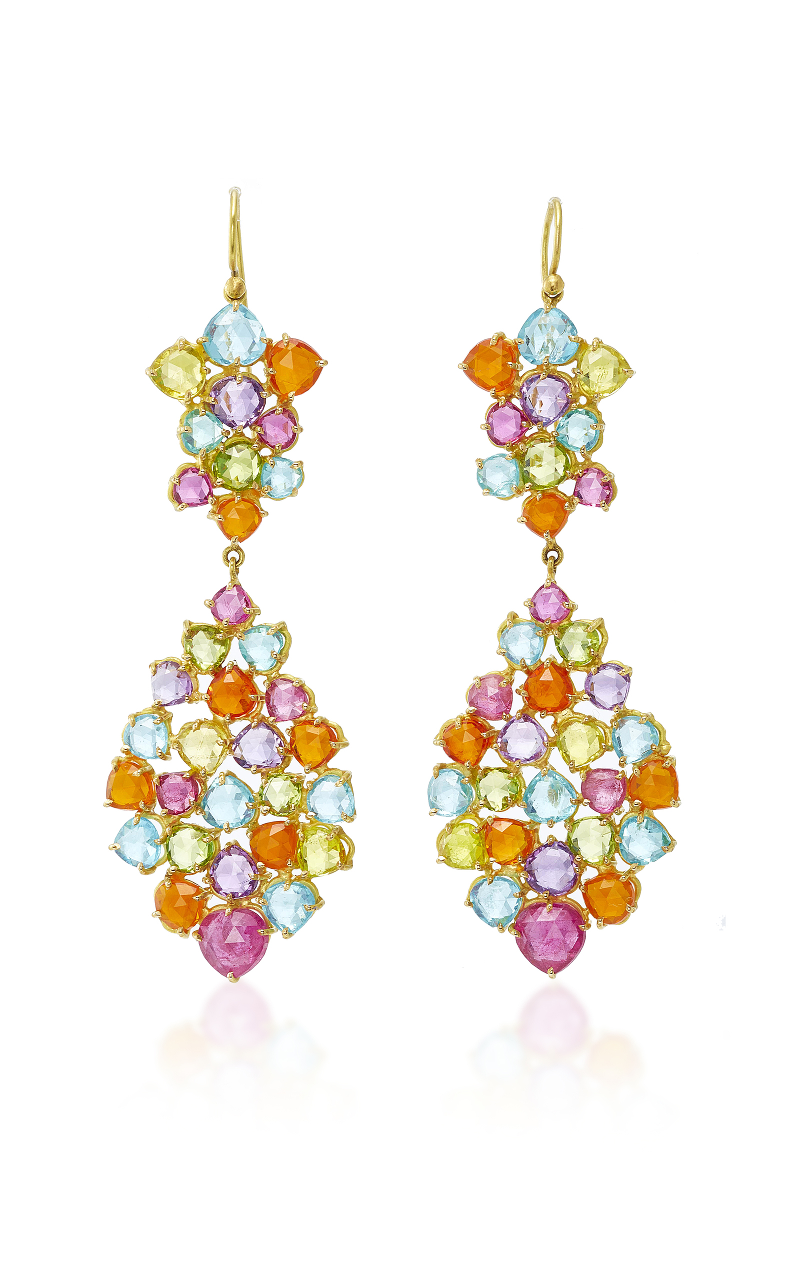 gemstones estate earrings drop multicolor jewels manfredi jewelry collections img products gemstone