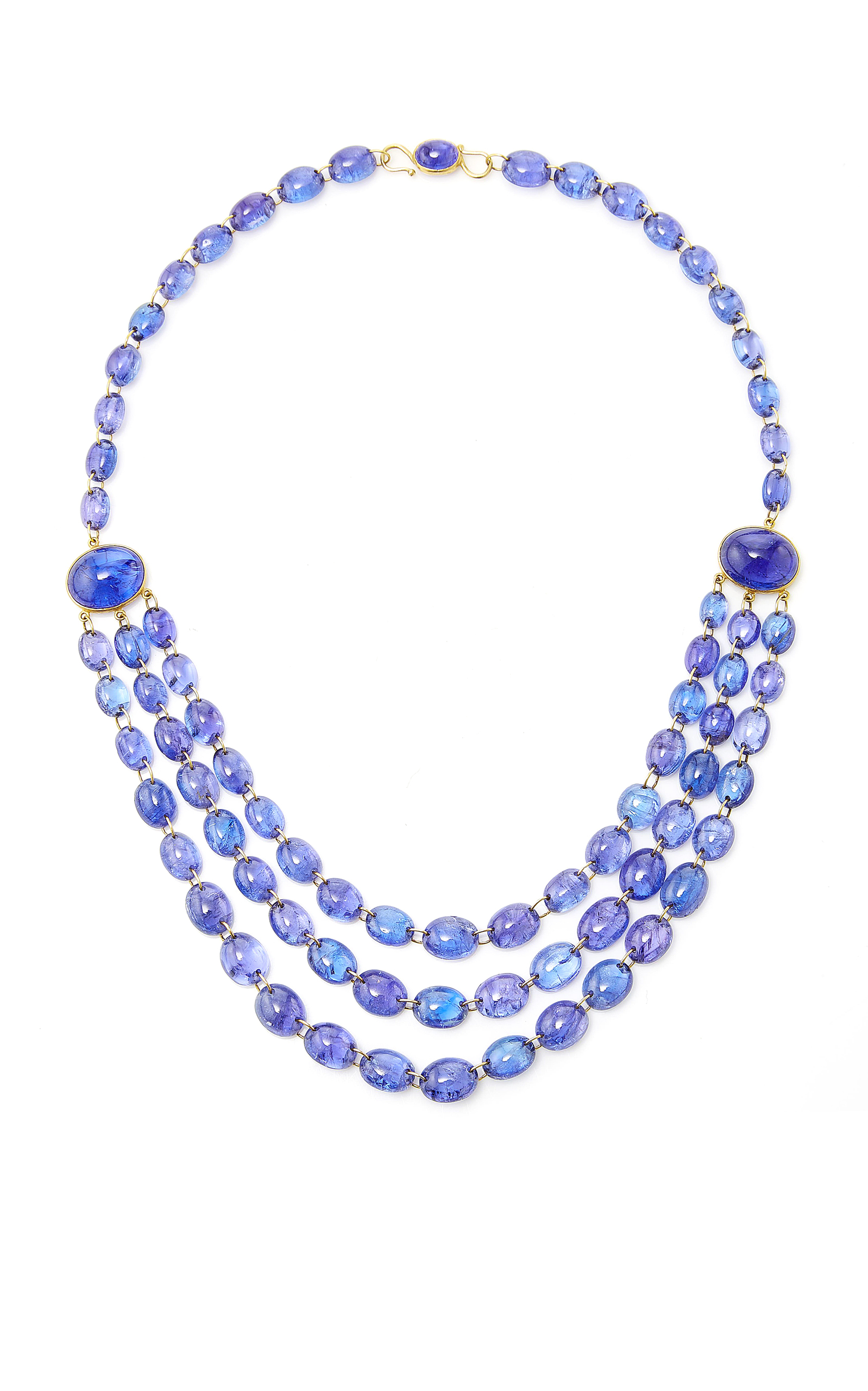 rondelle degraded faceted stone stones and buy en strands necklace tanzanite precious fine