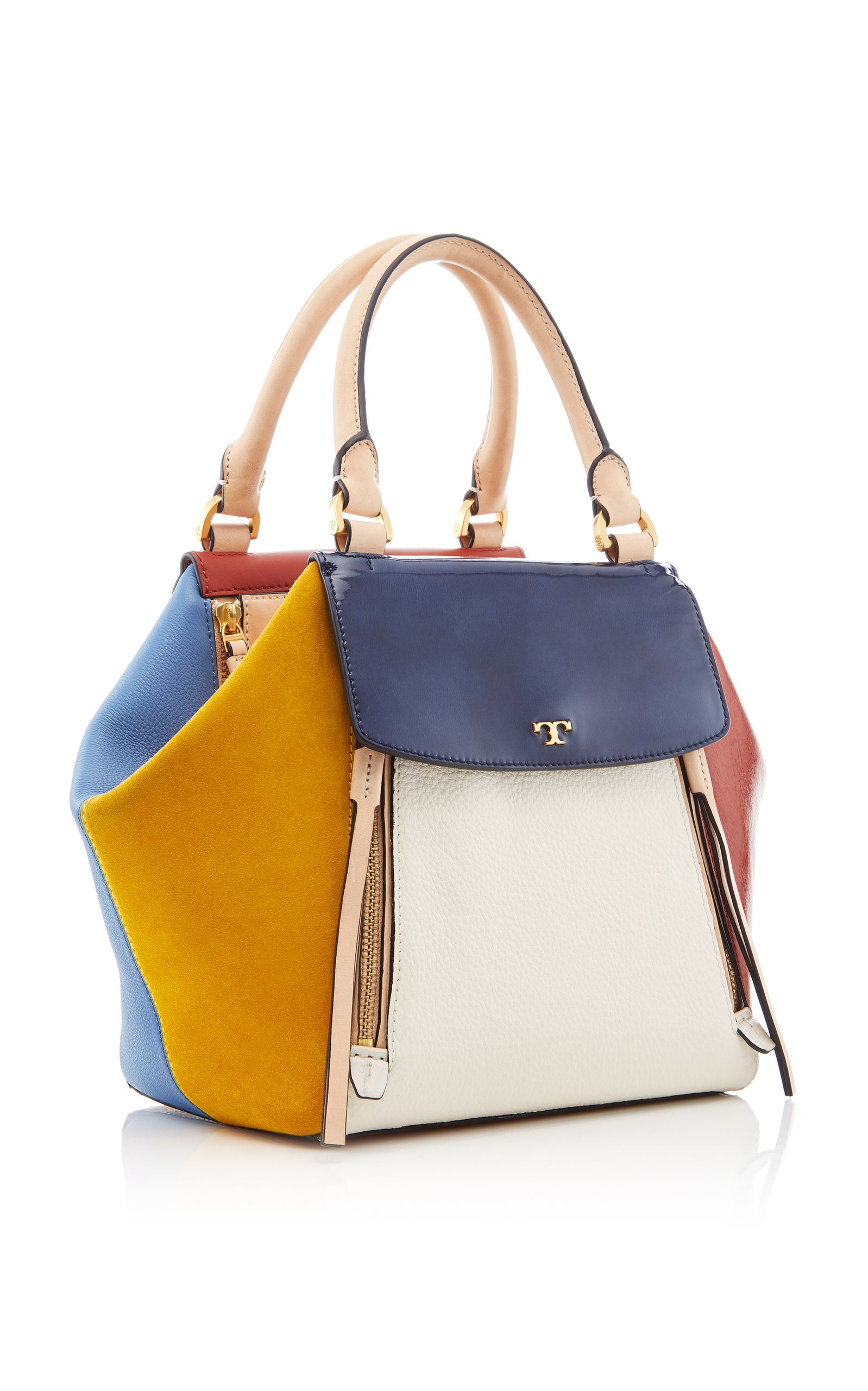 54fd5944d4471 Tory BurchHalf Moon Mixed Material Satchel. CLOSE. Loading. Loading