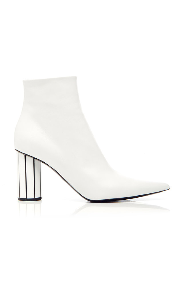 White Mirror Heel 90 Leather Ankle Boots