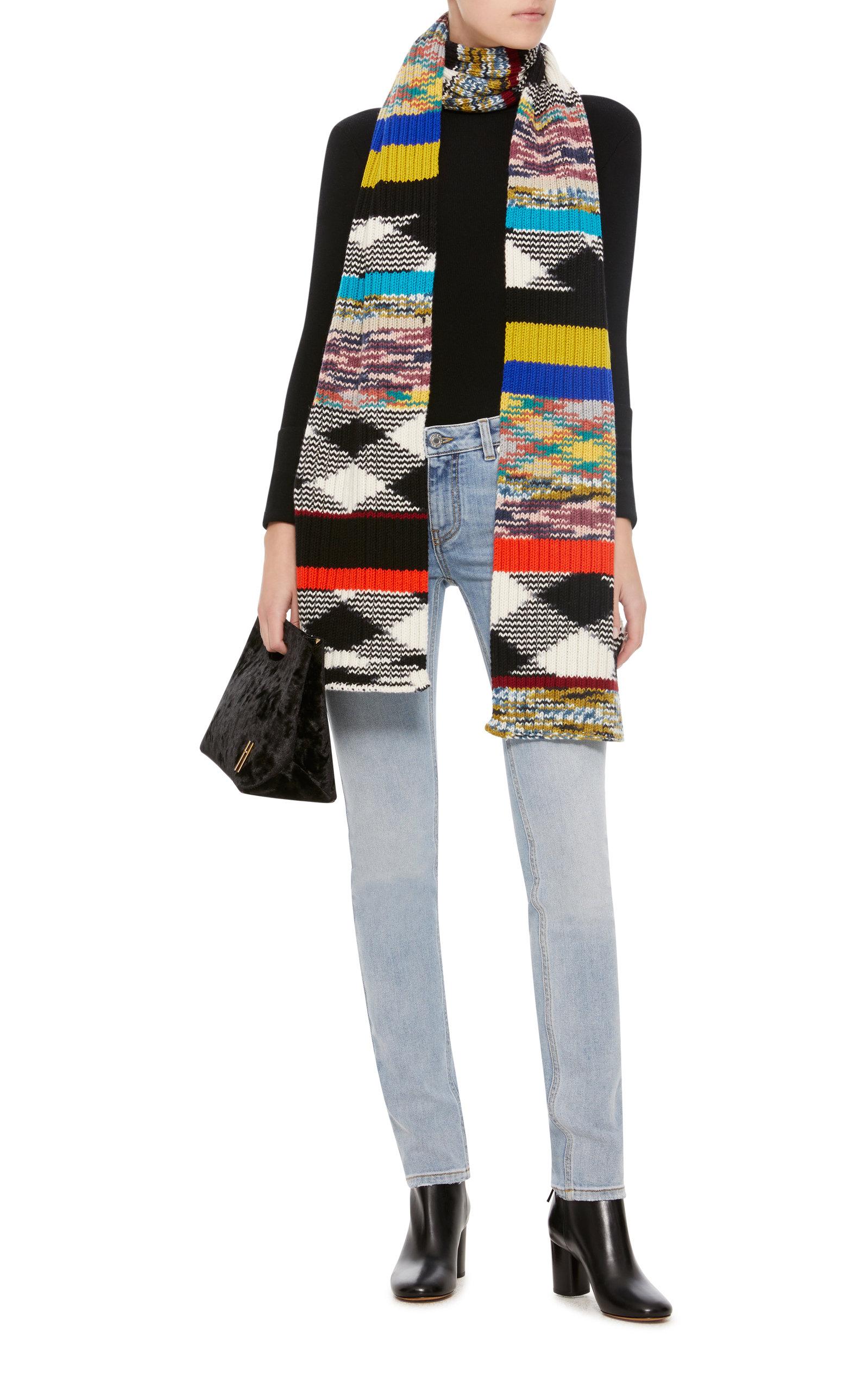 Fringed Crochet-Knit Cashmere Scarf Missoni MjQkDGFt4L