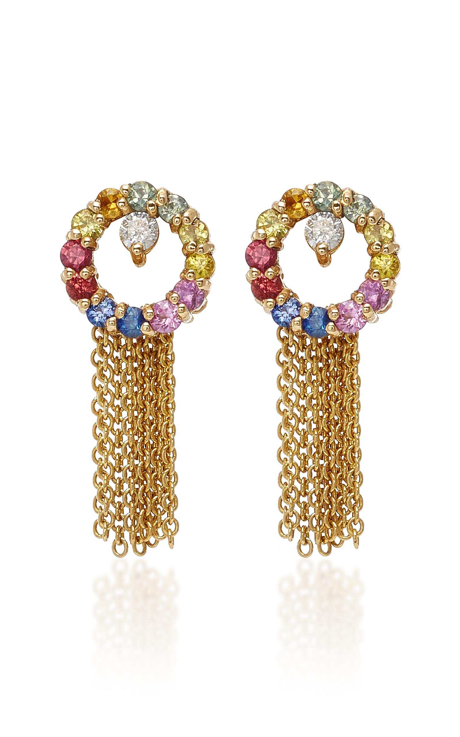 Eden Presley 14k Gold Sapphire Earrings eKTWphZo2t