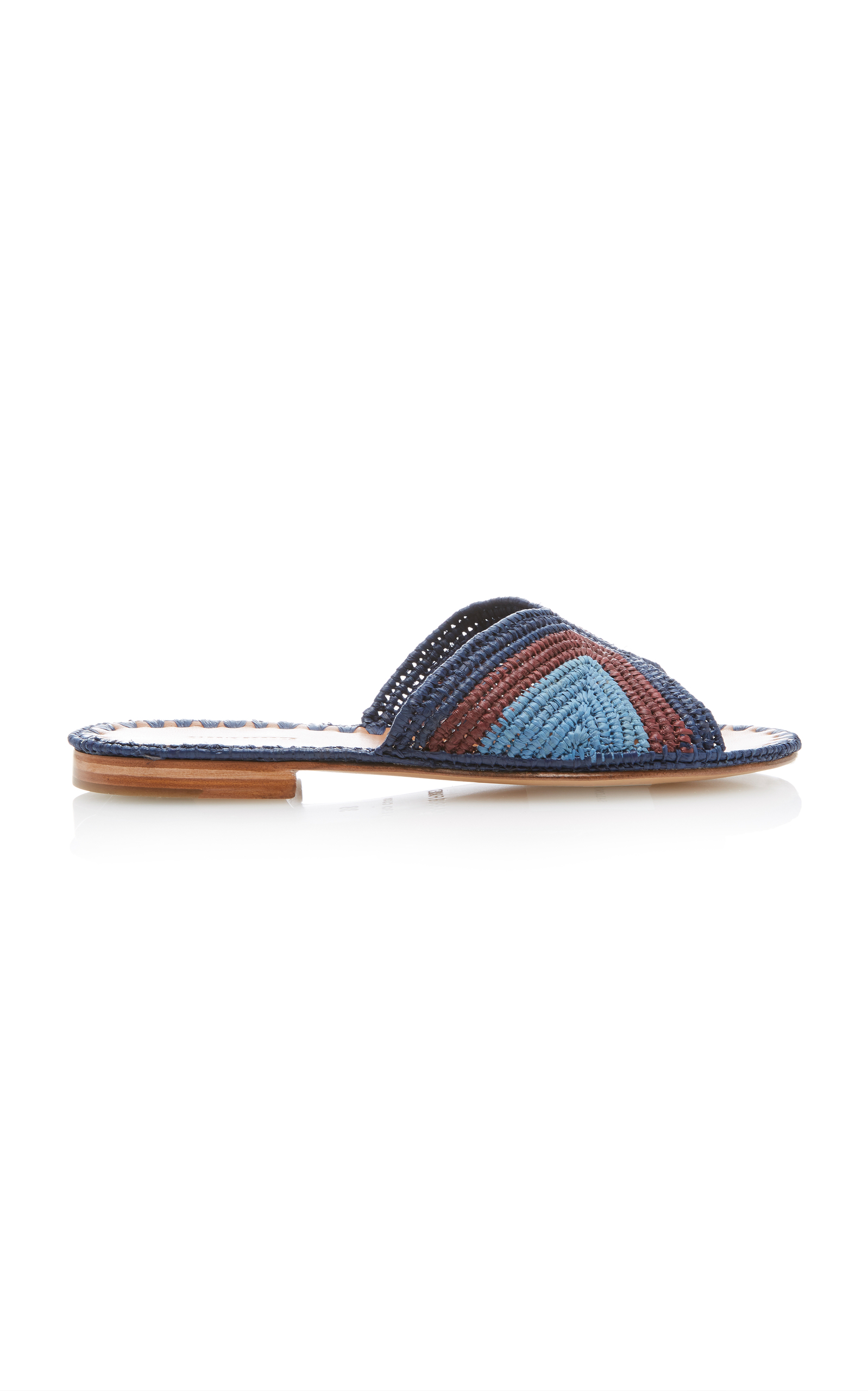 CARRIE FORBES Salon Coloree Slides in Blue