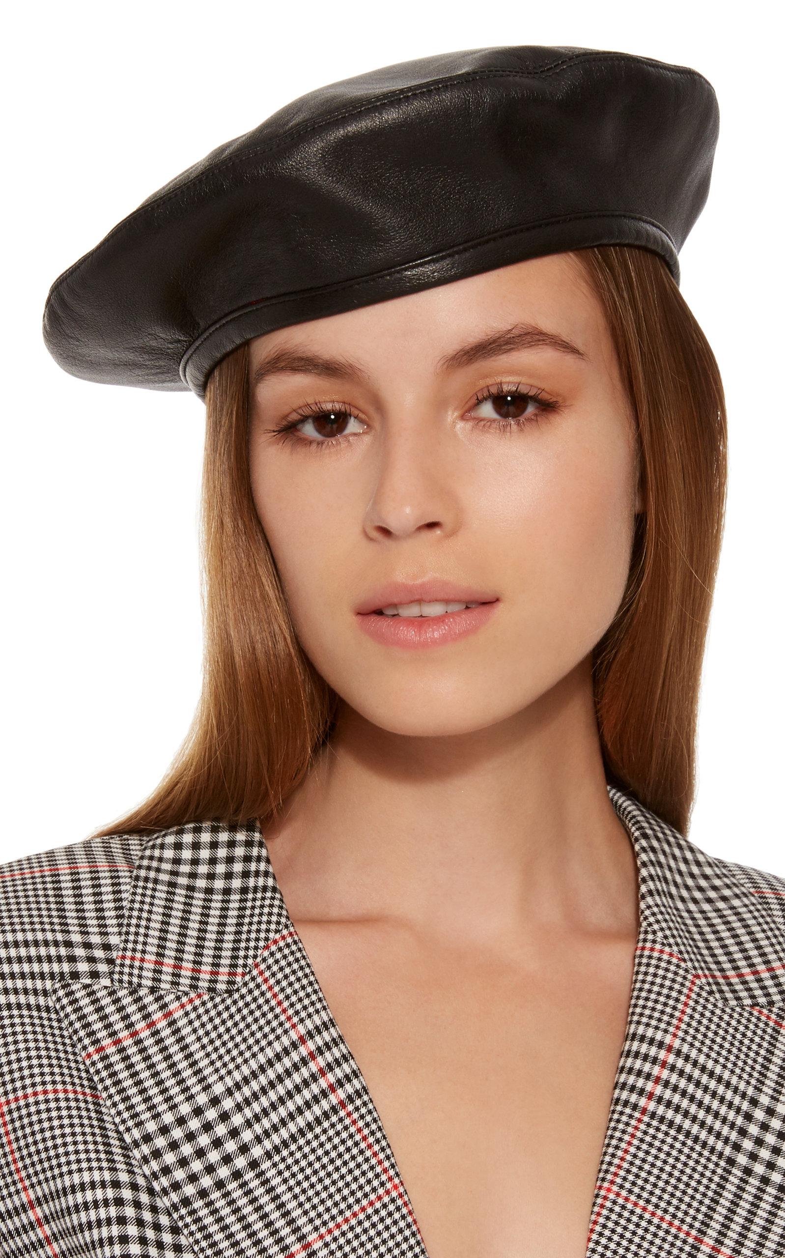 Eugenia Kim Cher Black Leather Beret  9654b69f7fd