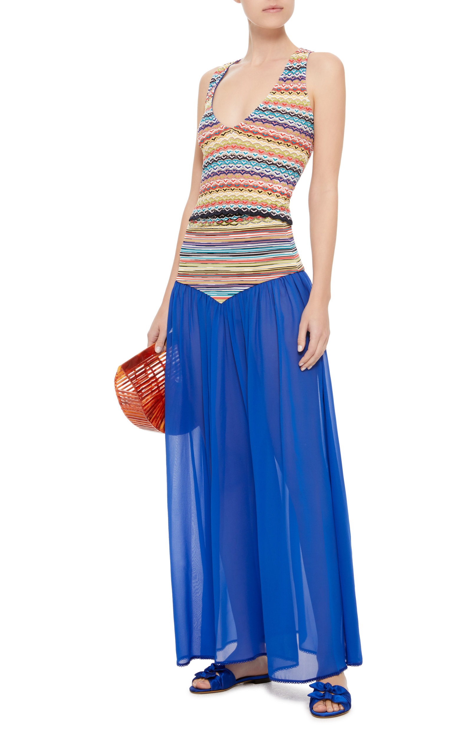 Crochet-Knit And Chiffon Maxi Skirt Missoni Buy Cheap Visit Free Shipping Real Buy Cheap Geniue Stockist Release Dates 2LJK06e