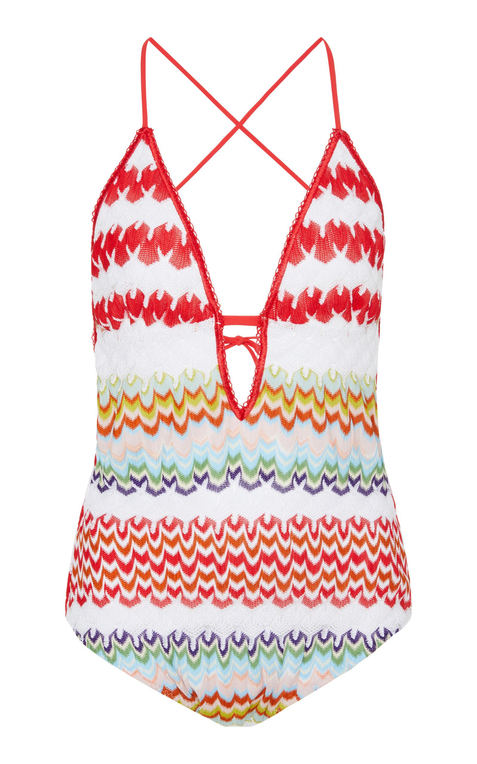 Crochet Knit Swimsuit by Missoni Mare