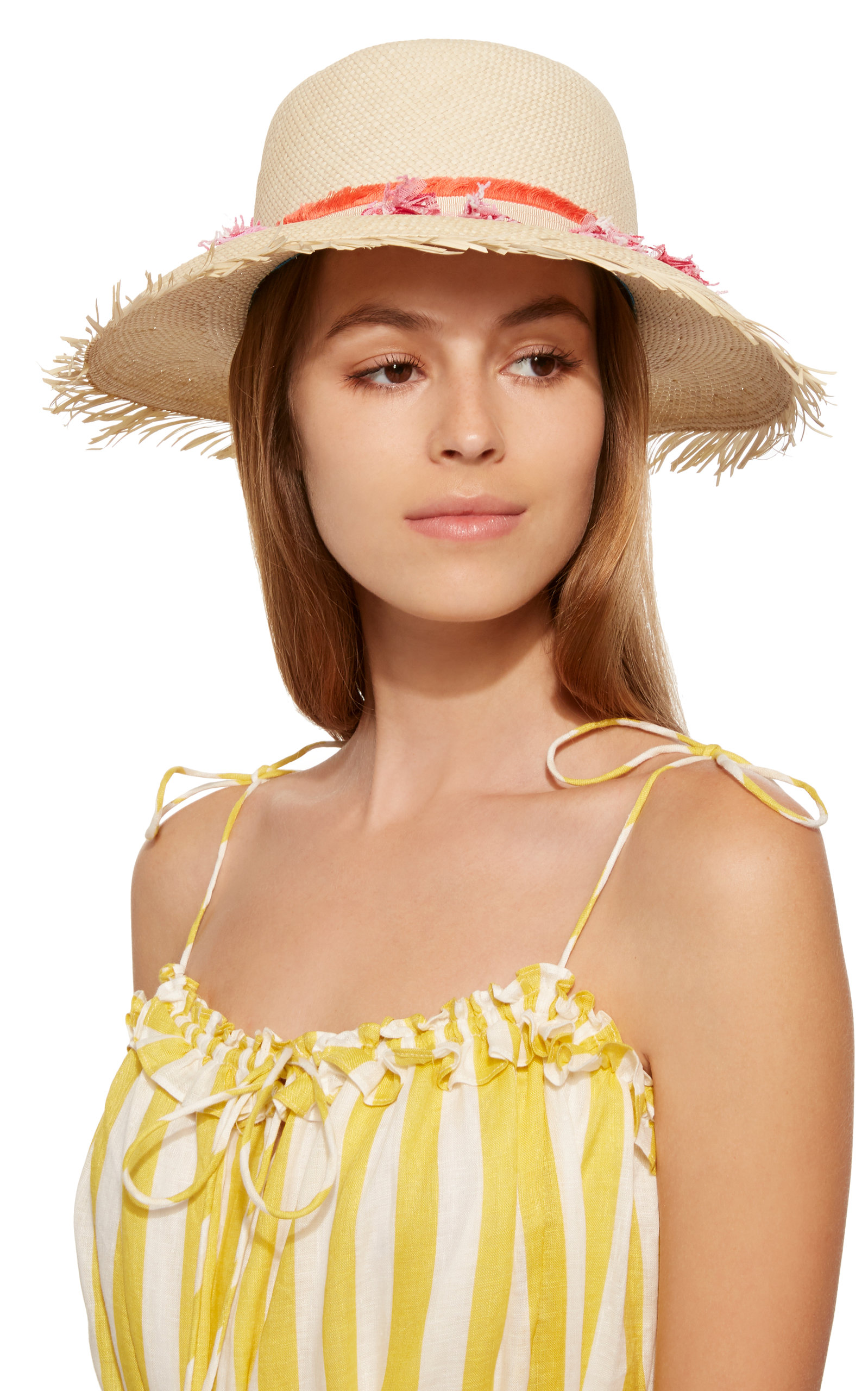 Playa Tasseled Straw Bucket Hat YESTADT MILLINERY hz5S1SqR