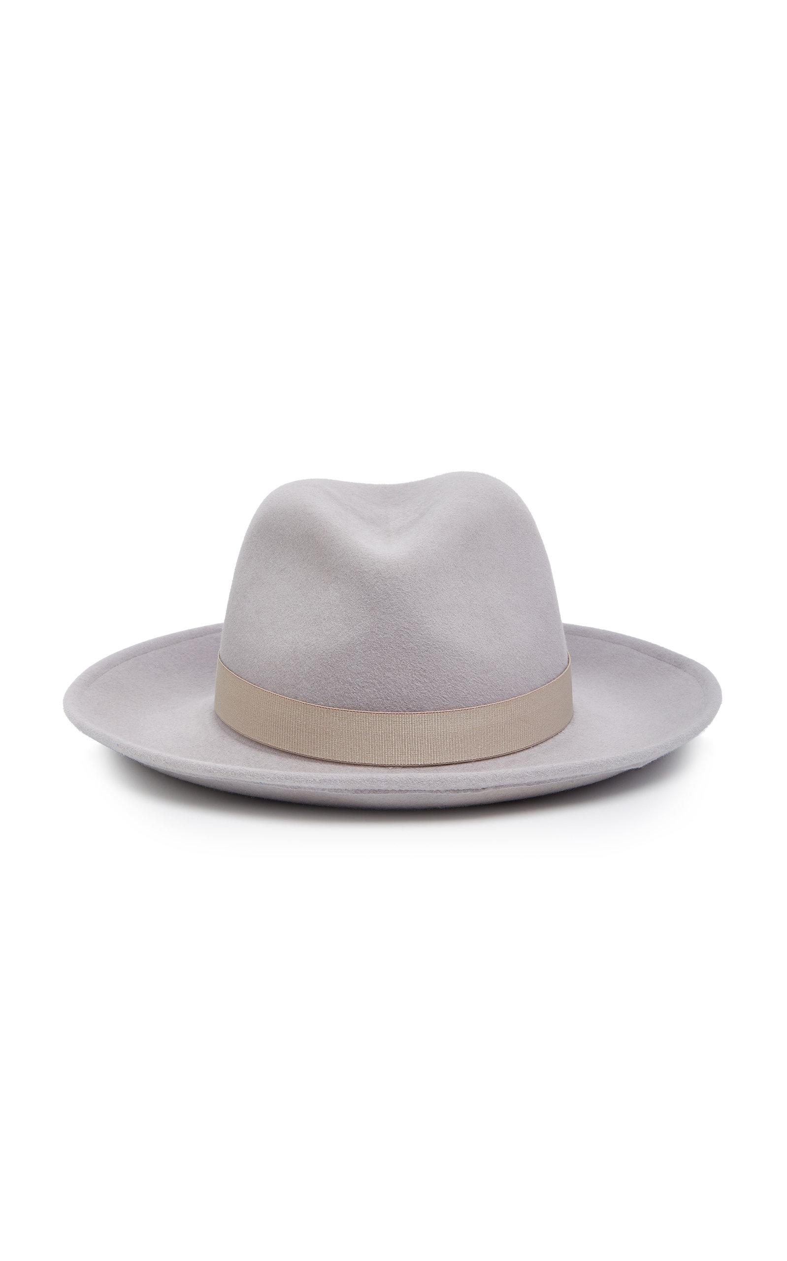 YESTADT MILLINERY Nomad Felt Fedora Hat in Grey