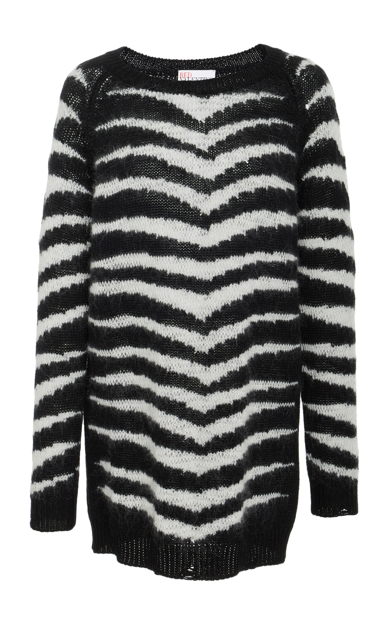 Longline Striped Knit Sweater by Red Valentino  41cc694fb