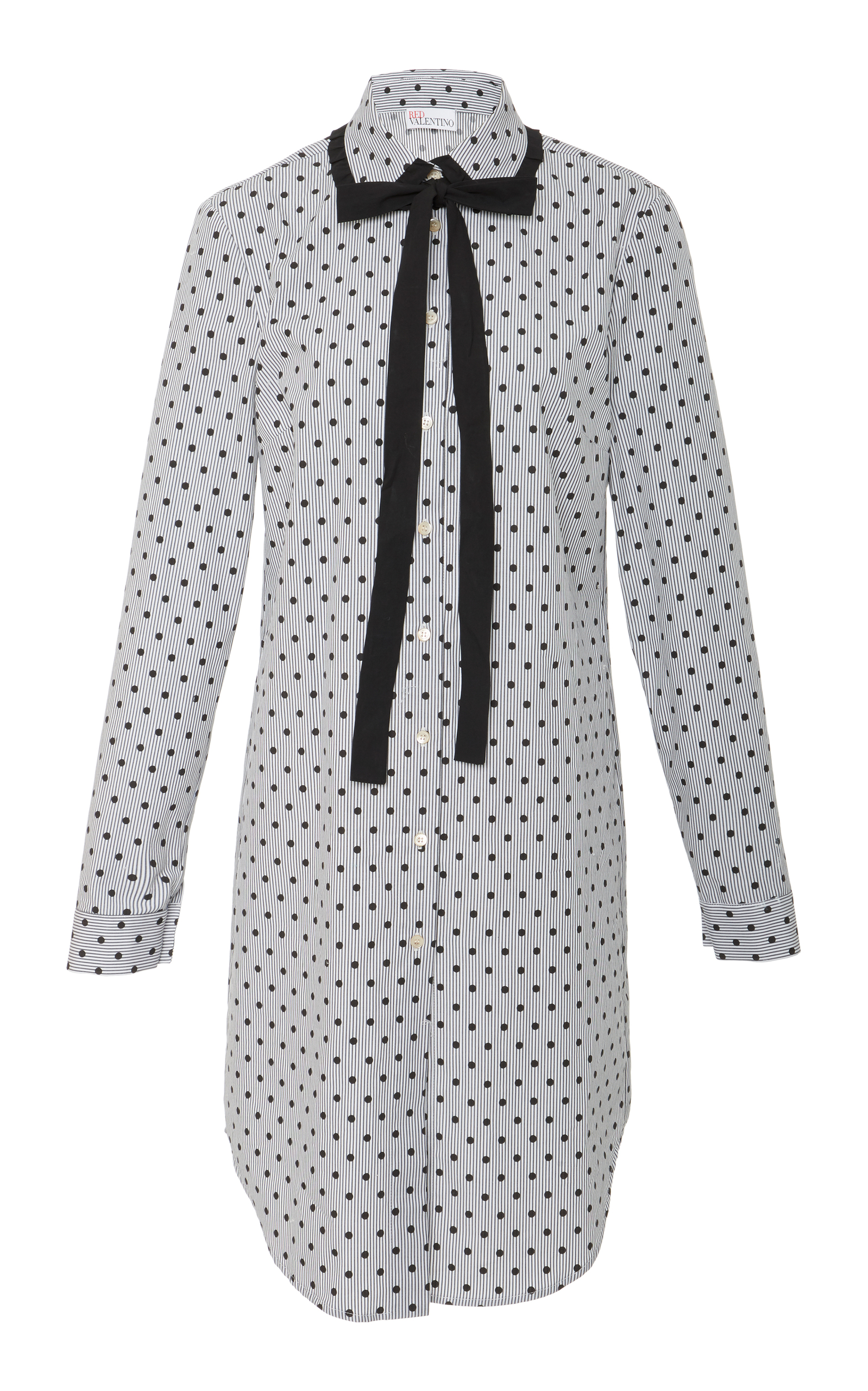 Red Valentino polka dot longline blouse Outlet New Styles Outlet Largest Supplier Footaction Cheap Price Cheap Genuine For Sale Cheap Online 1Yhr5xi1J9