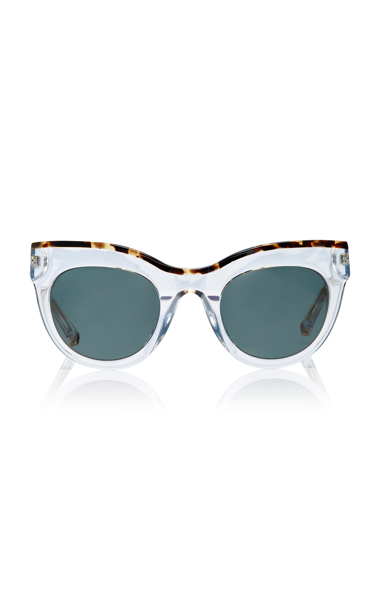 KATE YOUNG Nikki Cat-Eye Sunglasses in White