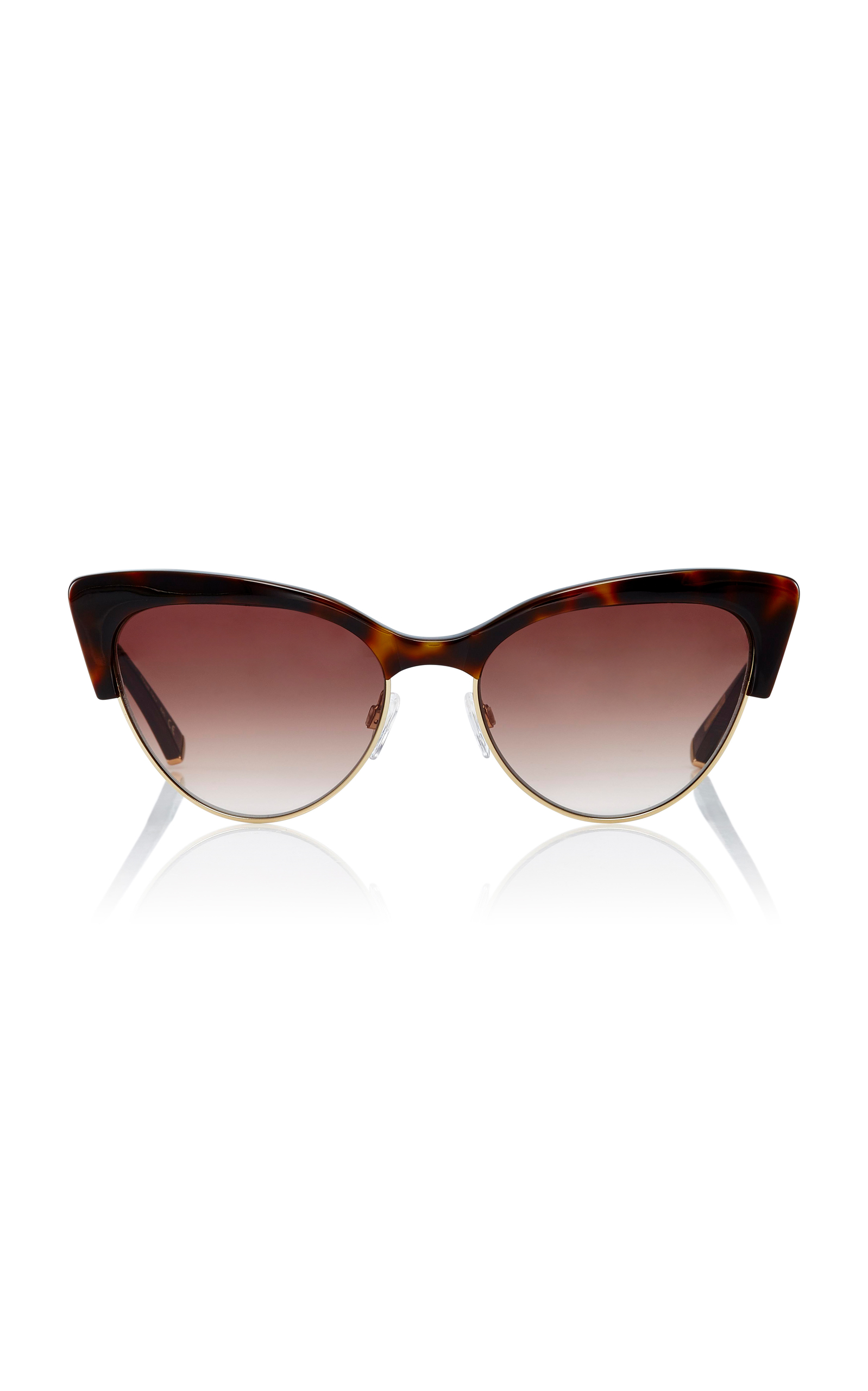 KATE YOUNG Cecilia Cat-Eye Sunglasses in Brown