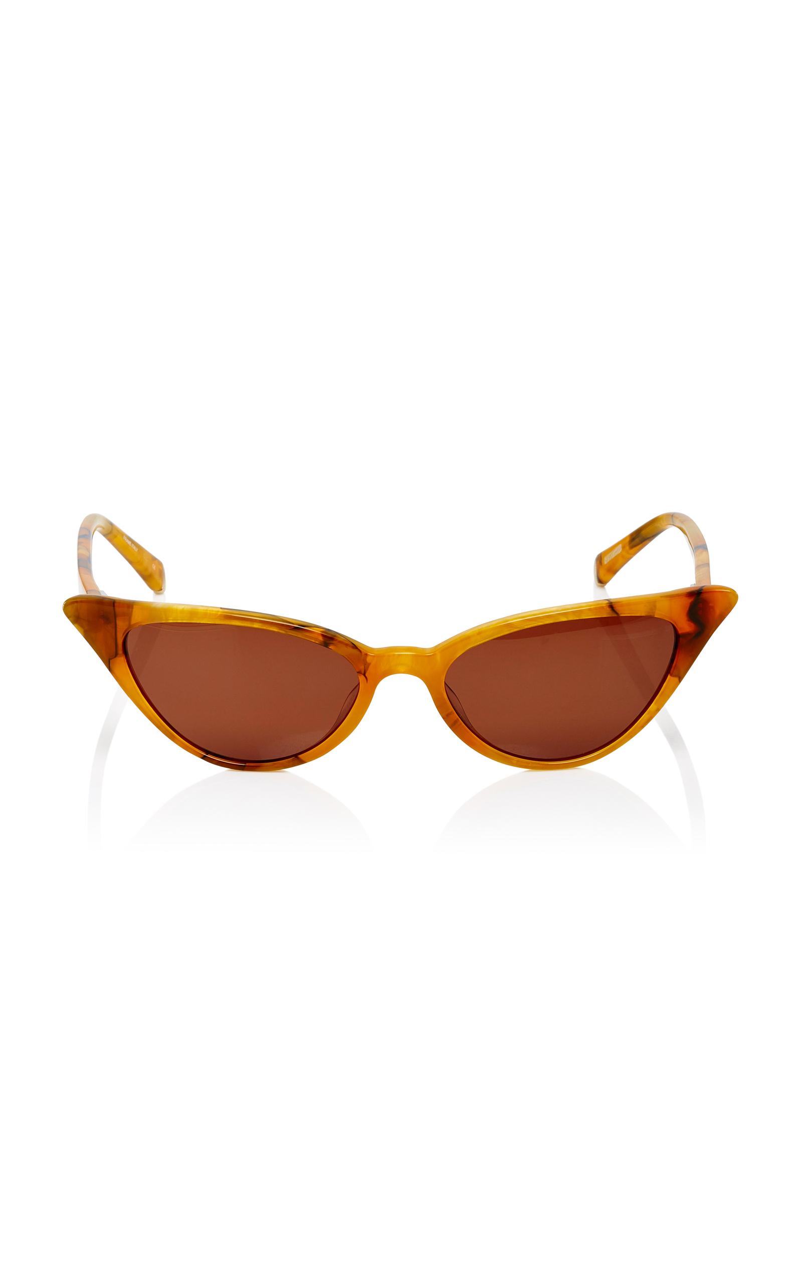 KATE YOUNG Lita Cat-Eye Sunglasses in Yellow