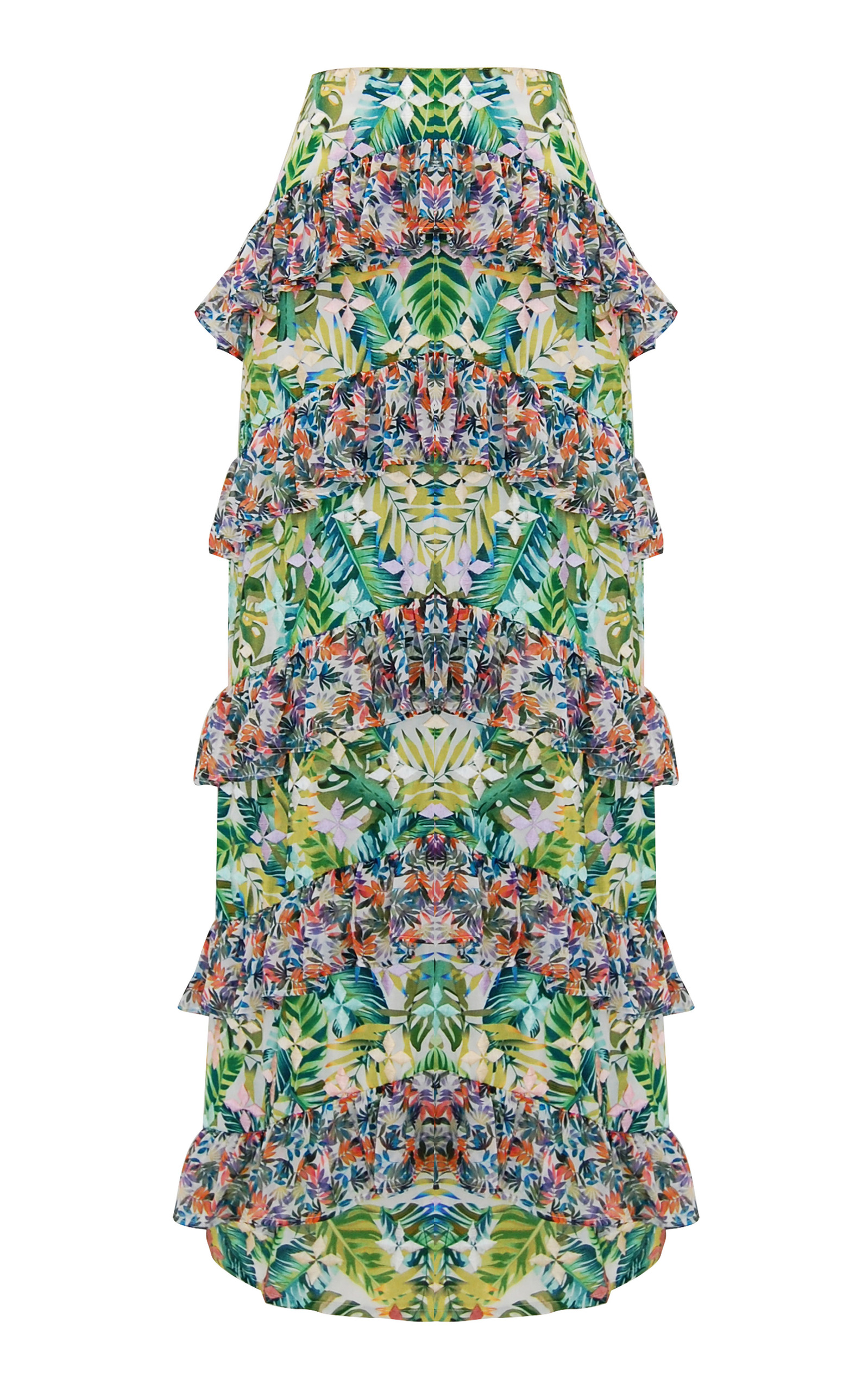 ALL THINGS MOCHI Sara Tropical Maxi Skirt in Green