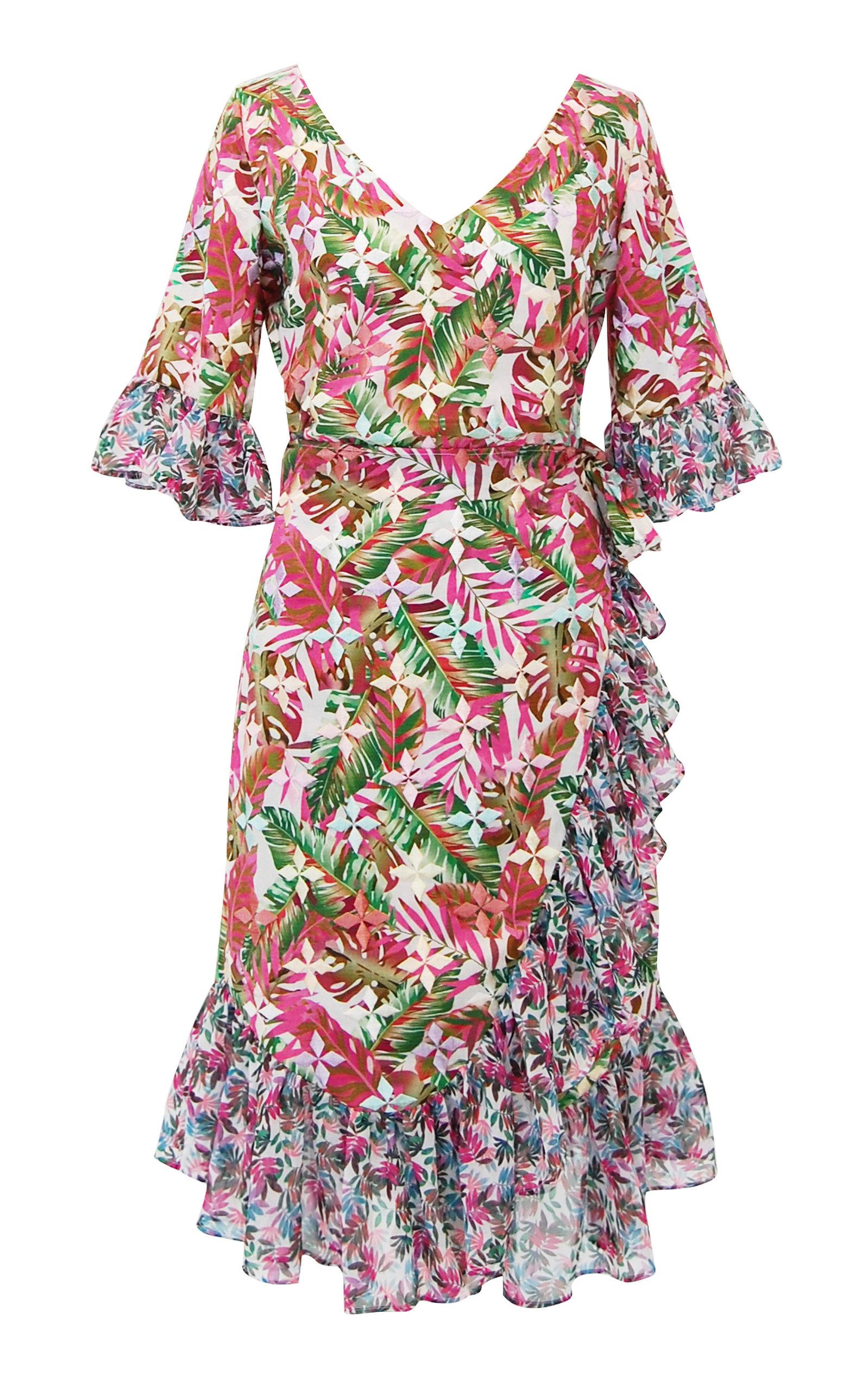Philippa Ruffled Printed Linen Wrap Dress All Things Mochi 6XkP4