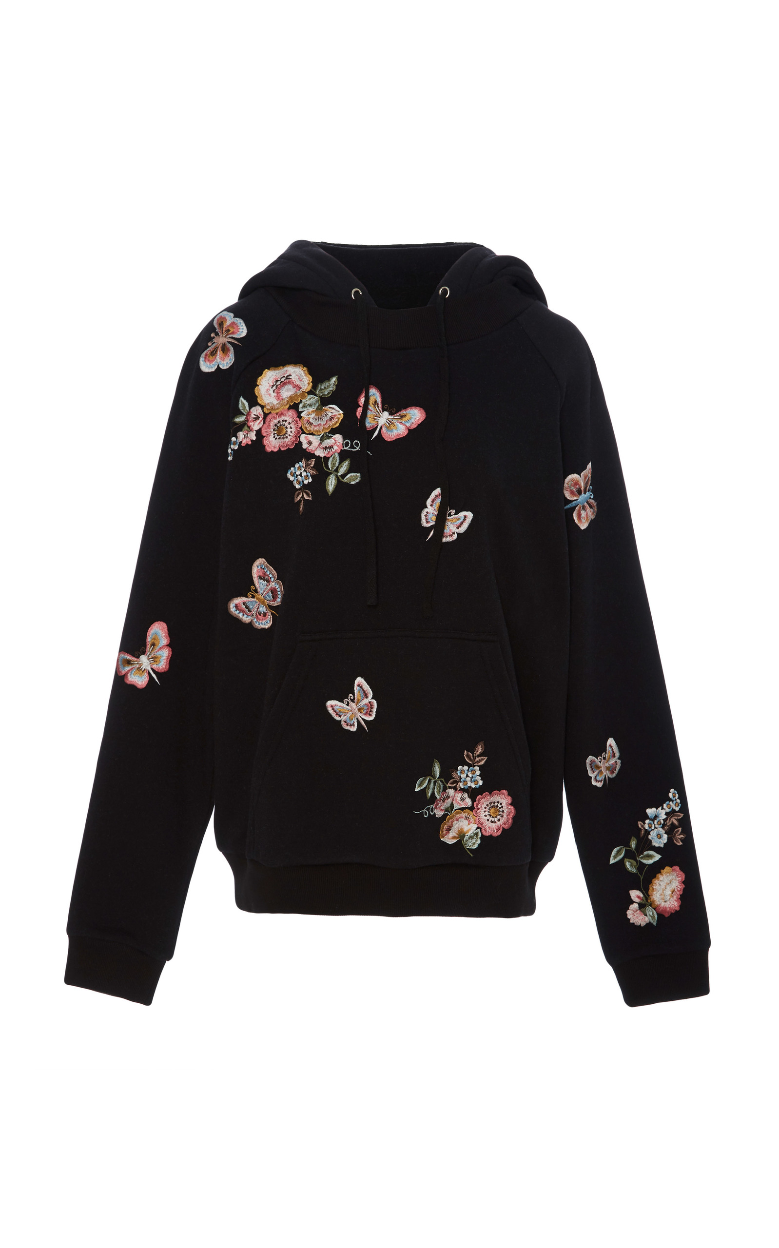 e896de54274b Butterfly Rose Embroidered Sweatshirt by Needle   Thread