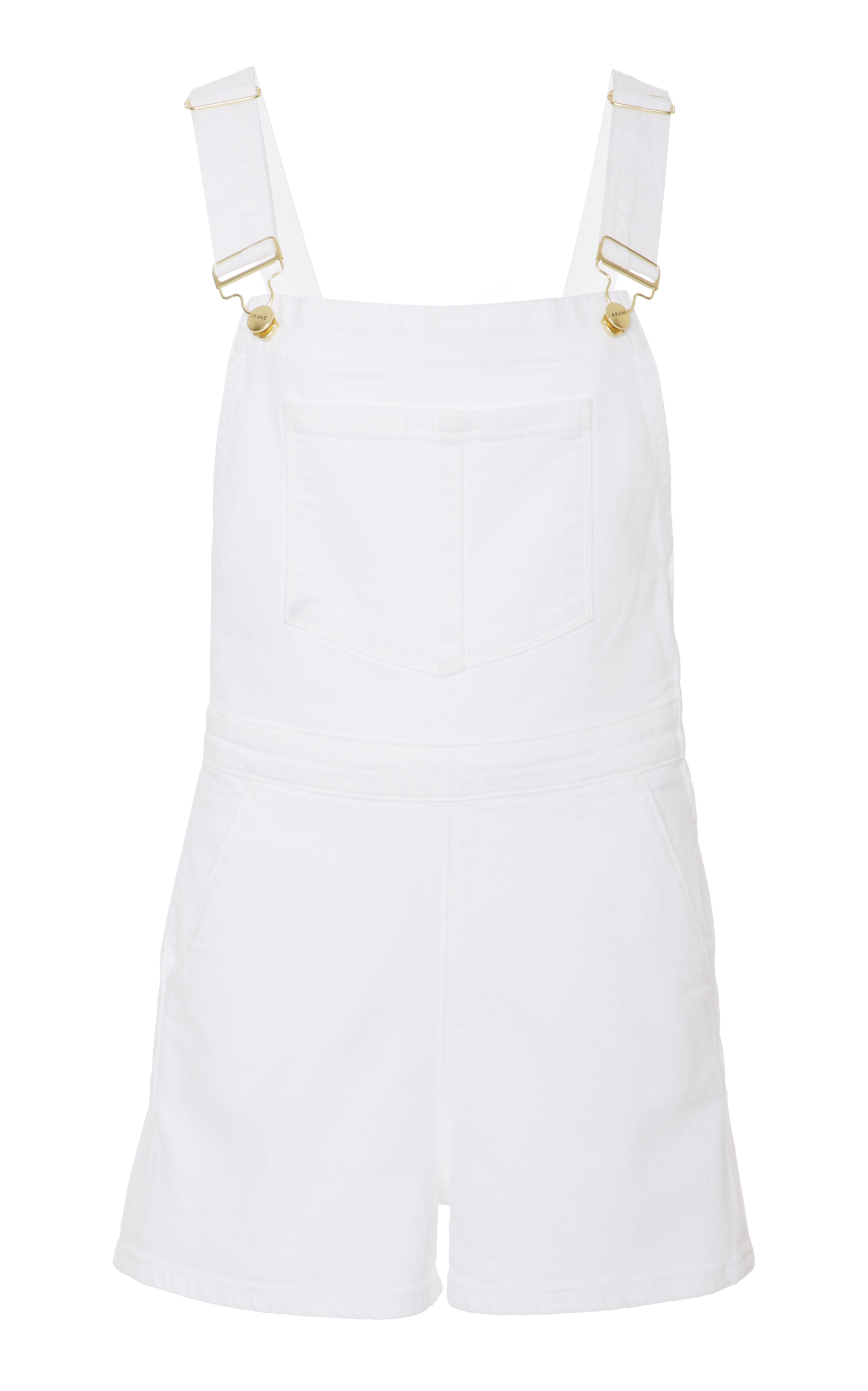 FRAME PALAZZO SHORT JUMPSUIT, WHITE | ModeSens