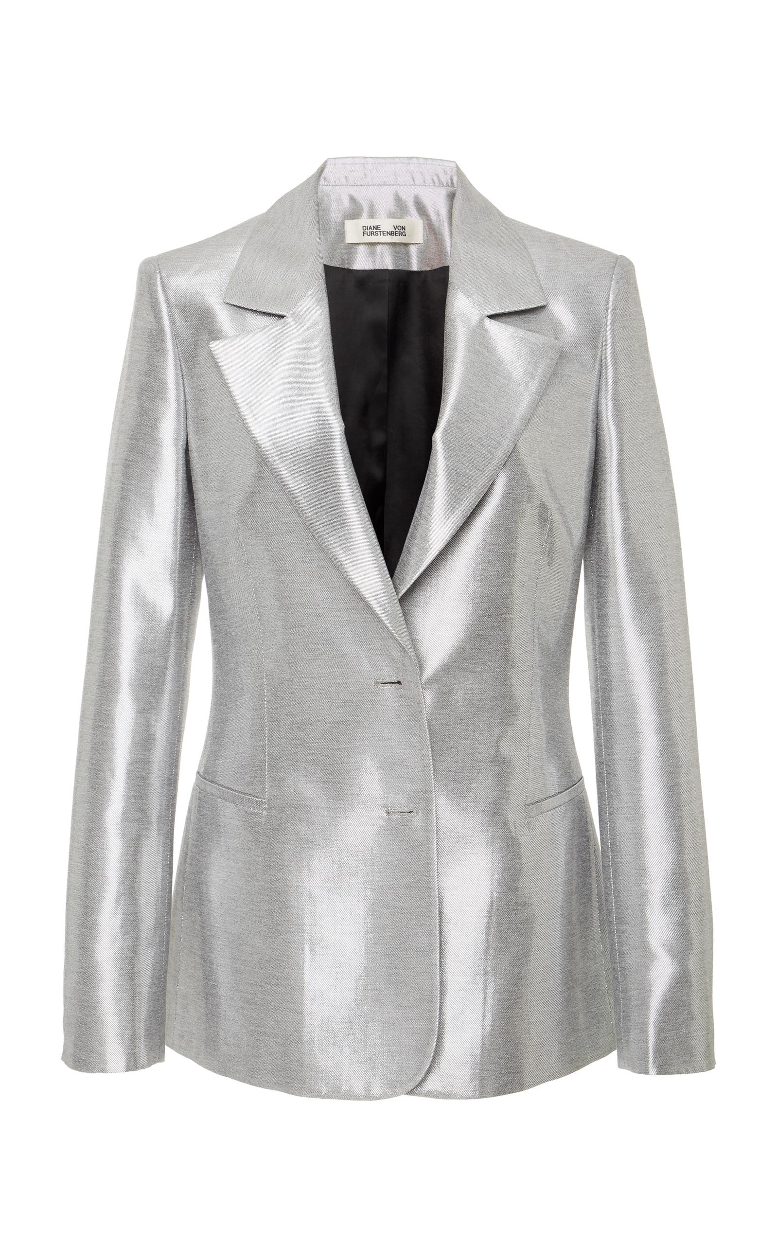 Classic Silver Metallic Blazer