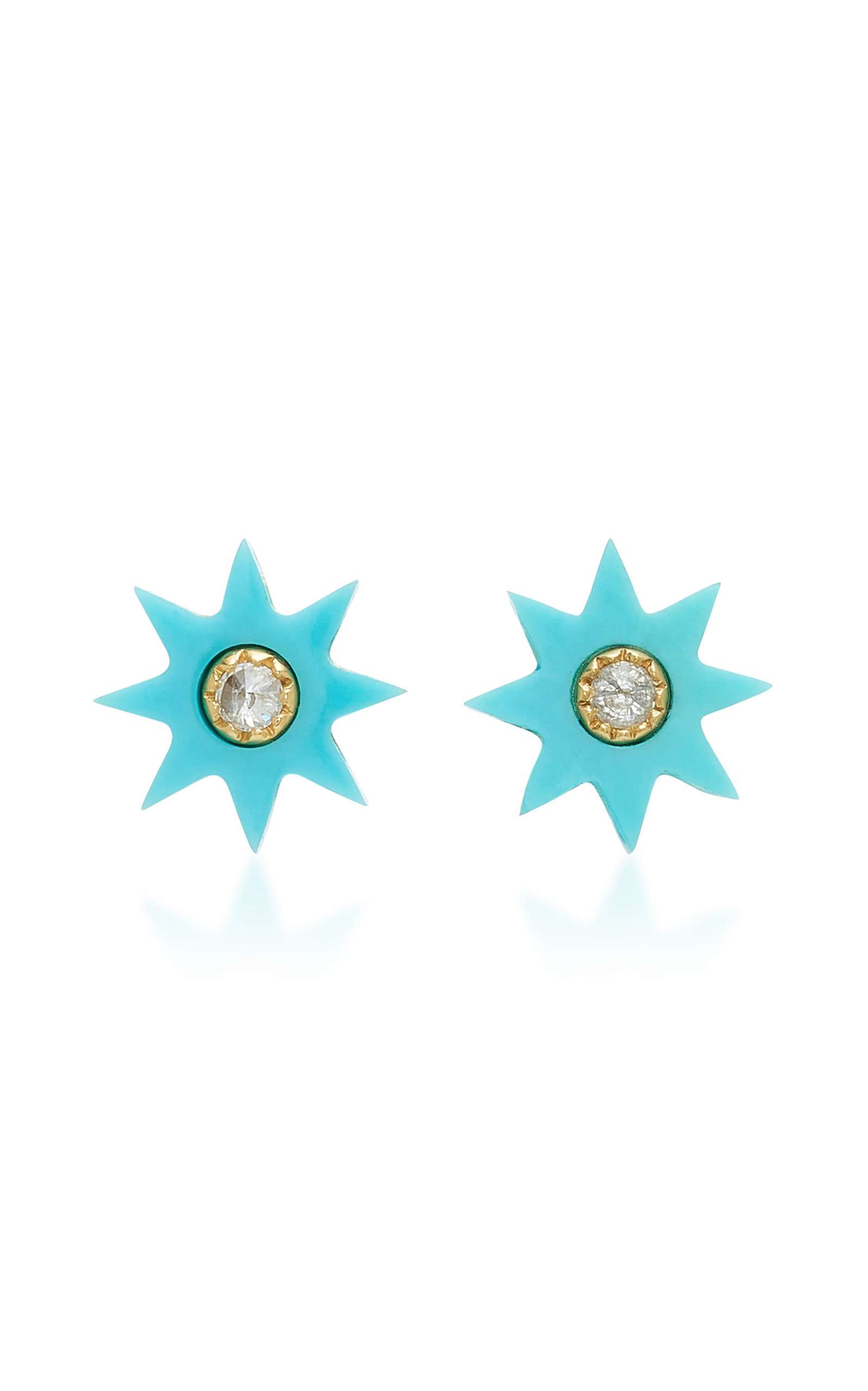 COLETTE JEWELRY TURQUOISE STARBURST STUD EARRINGS