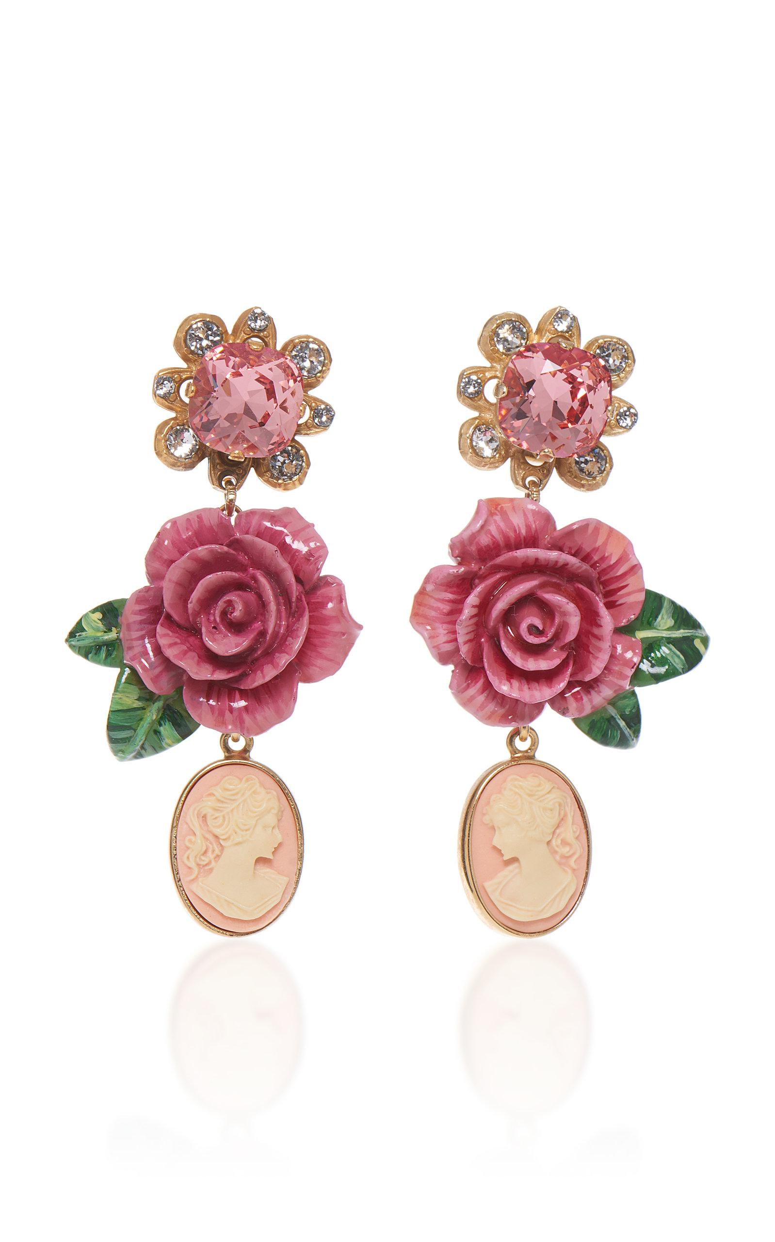Rosetto Laiton Tons D'argent Et Boucles D'oreilles En Cristal Dolce & Gabbana hxohg