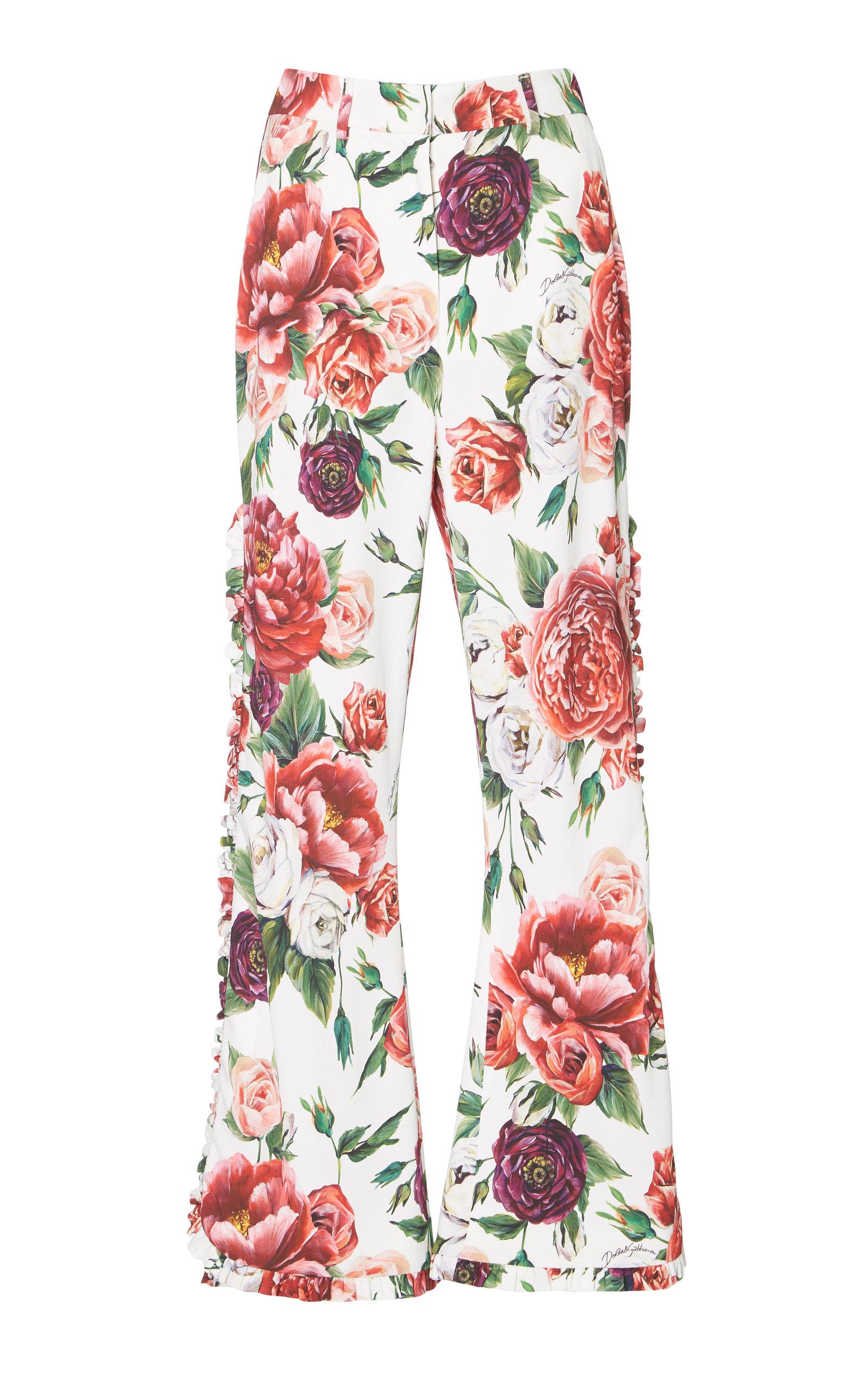 peony print track pants - White Dolce & Gabbana R36g9pXx