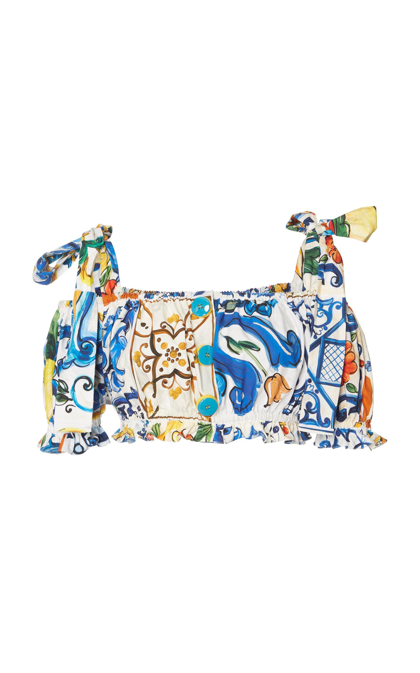 9bfabb51 Maiolica-Print Cropped Top by Dolce & Gabbana | Moda Operandi