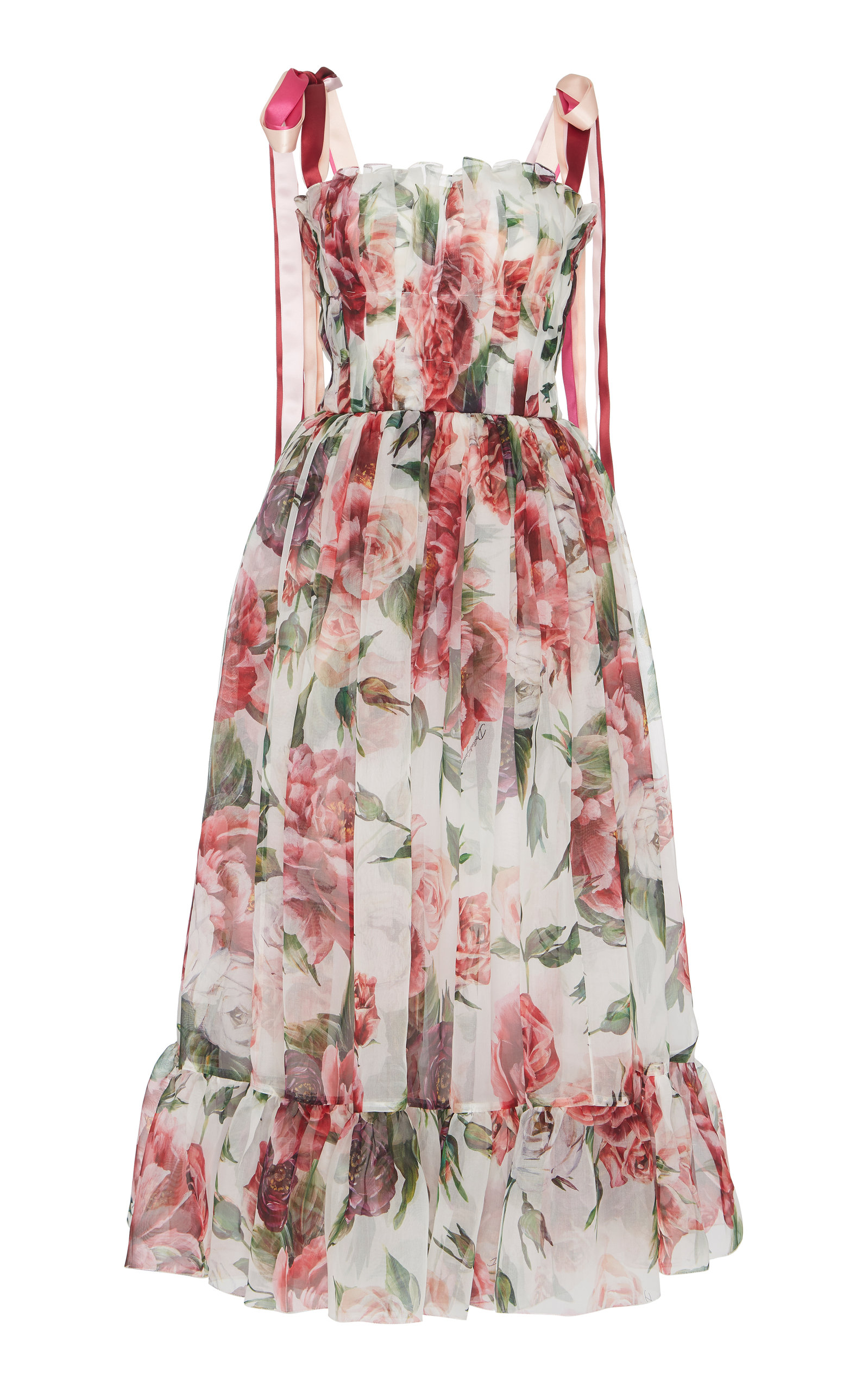 Peony print midi dress Dolce & Gabbana pVNi0c5e