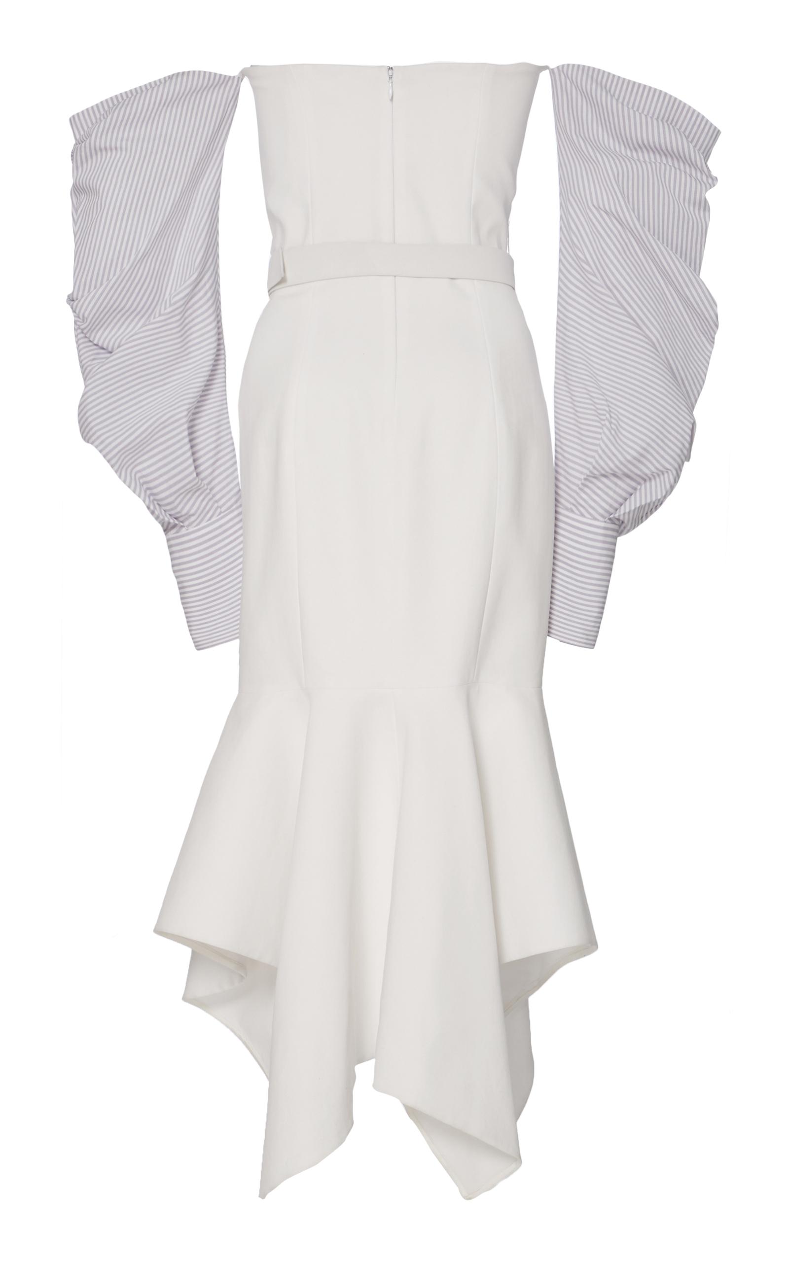 Twill Tailored Off The Shoulder Corset Dress Jonathan Simkhai HXteyuUn