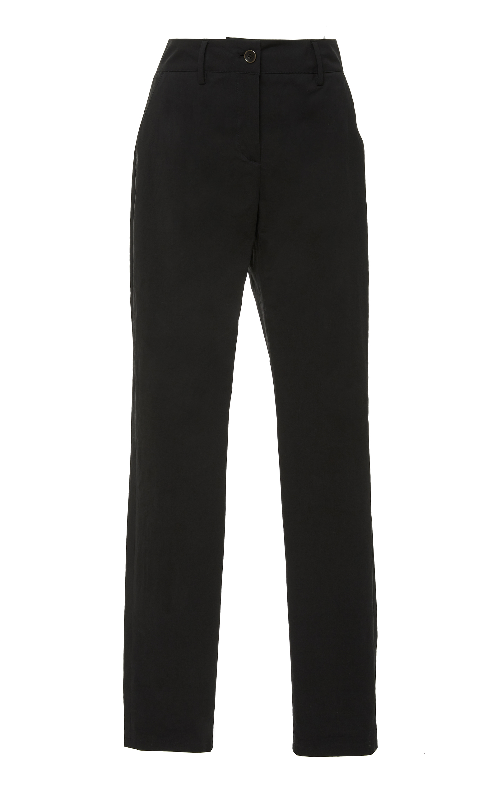 Sporty Popline Slim Pant, Black