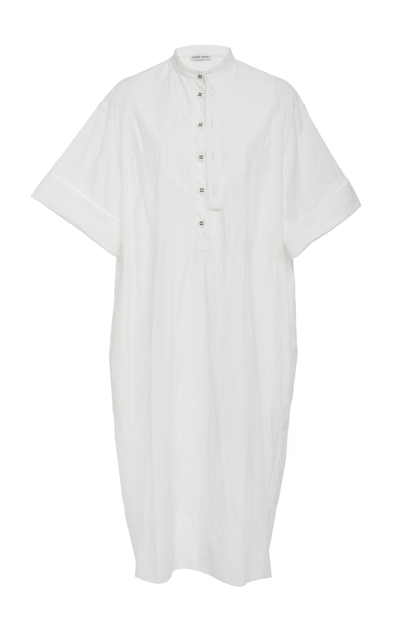 AIRY POPLIN COTTON SHIRT DRESS